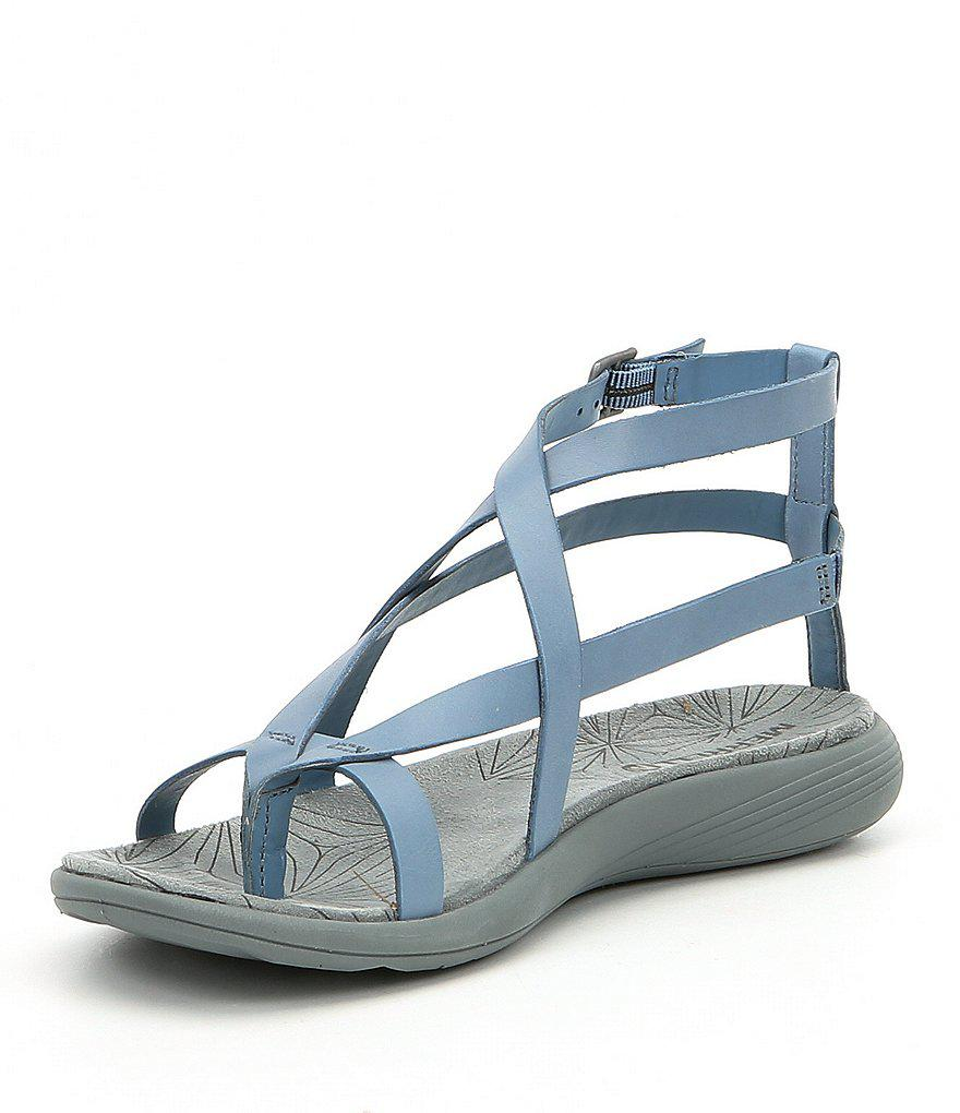 Duskair Seaway Post Leather Buckled Ankle Strap Sandals 3NAToc0QH