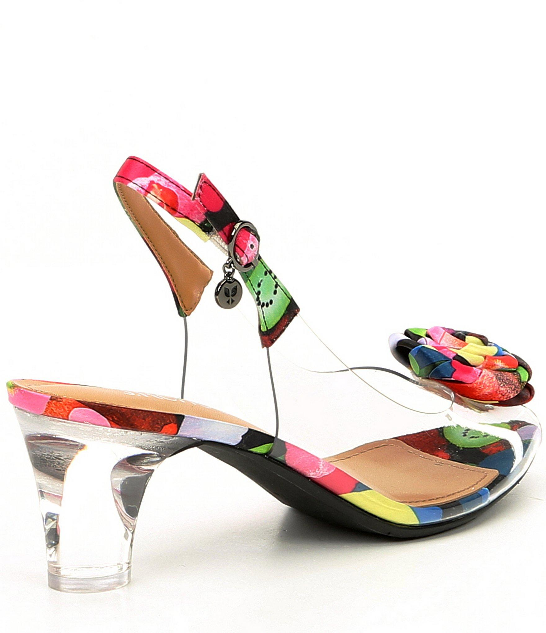 abdfc8c2604 J. Reneé - Multicolor Dailona Vinyl And Floral Print Sling Pumps - Lyst.  View fullscreen