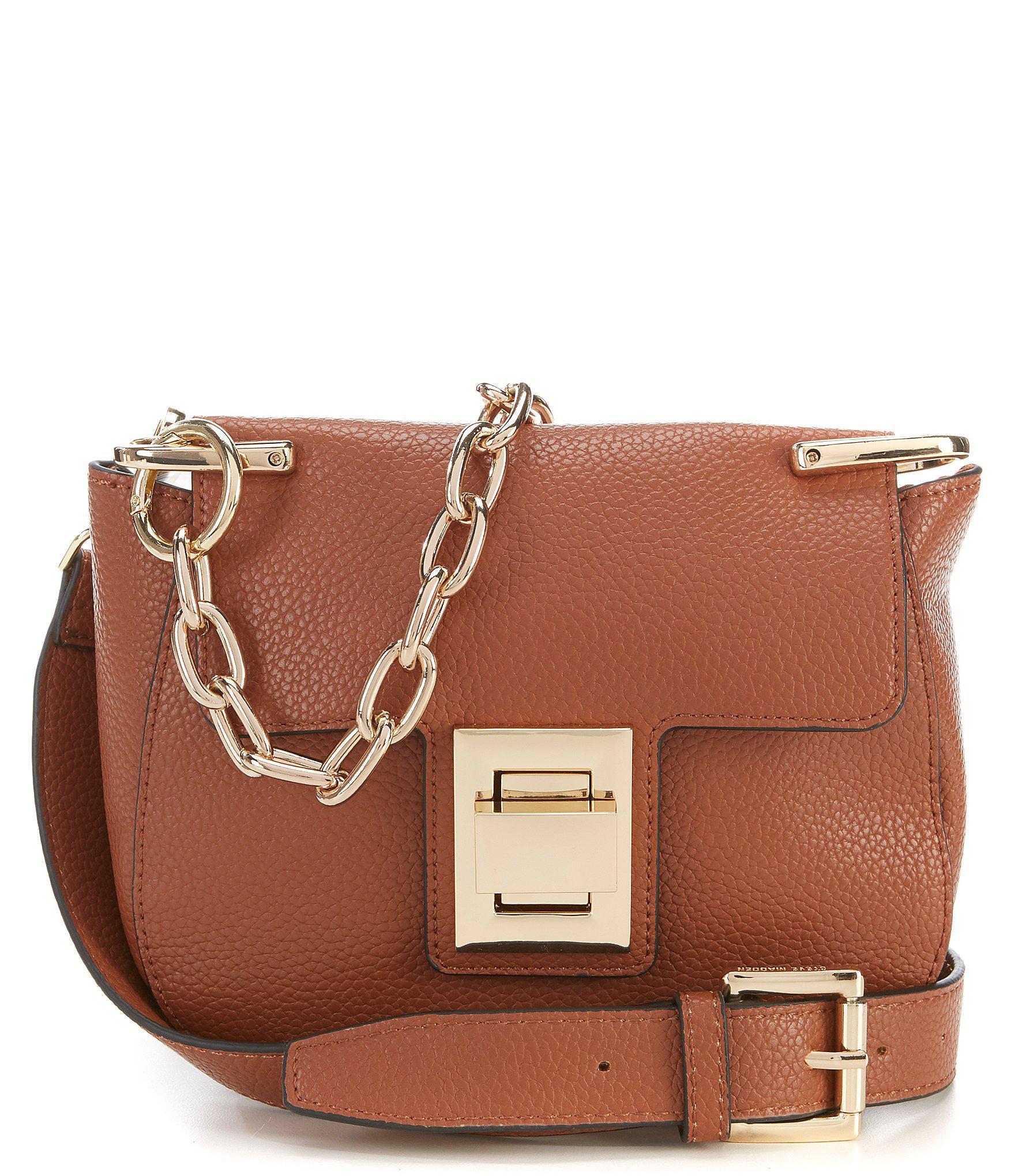9799066edd Steve Madden Kaia Chain Cross-body Bag in Brown - Lyst