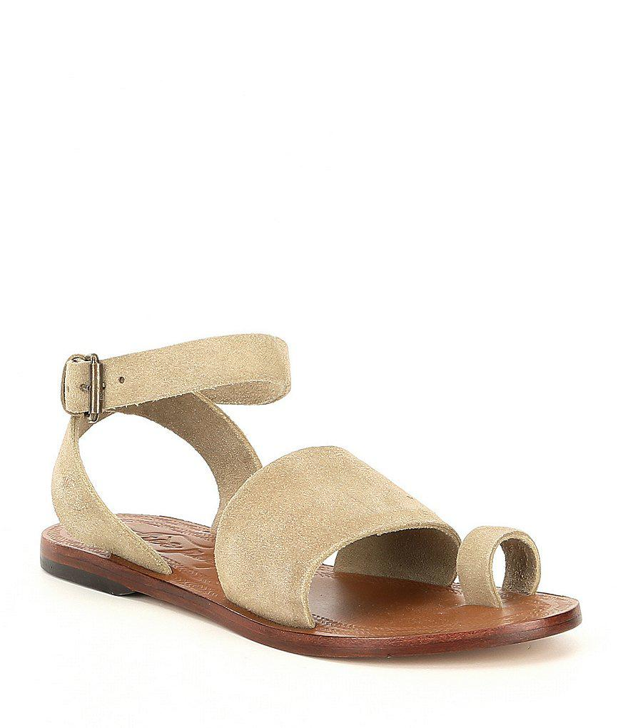 Free People Torrence Toe Ring Leather Sandals DPRODVWQJ9