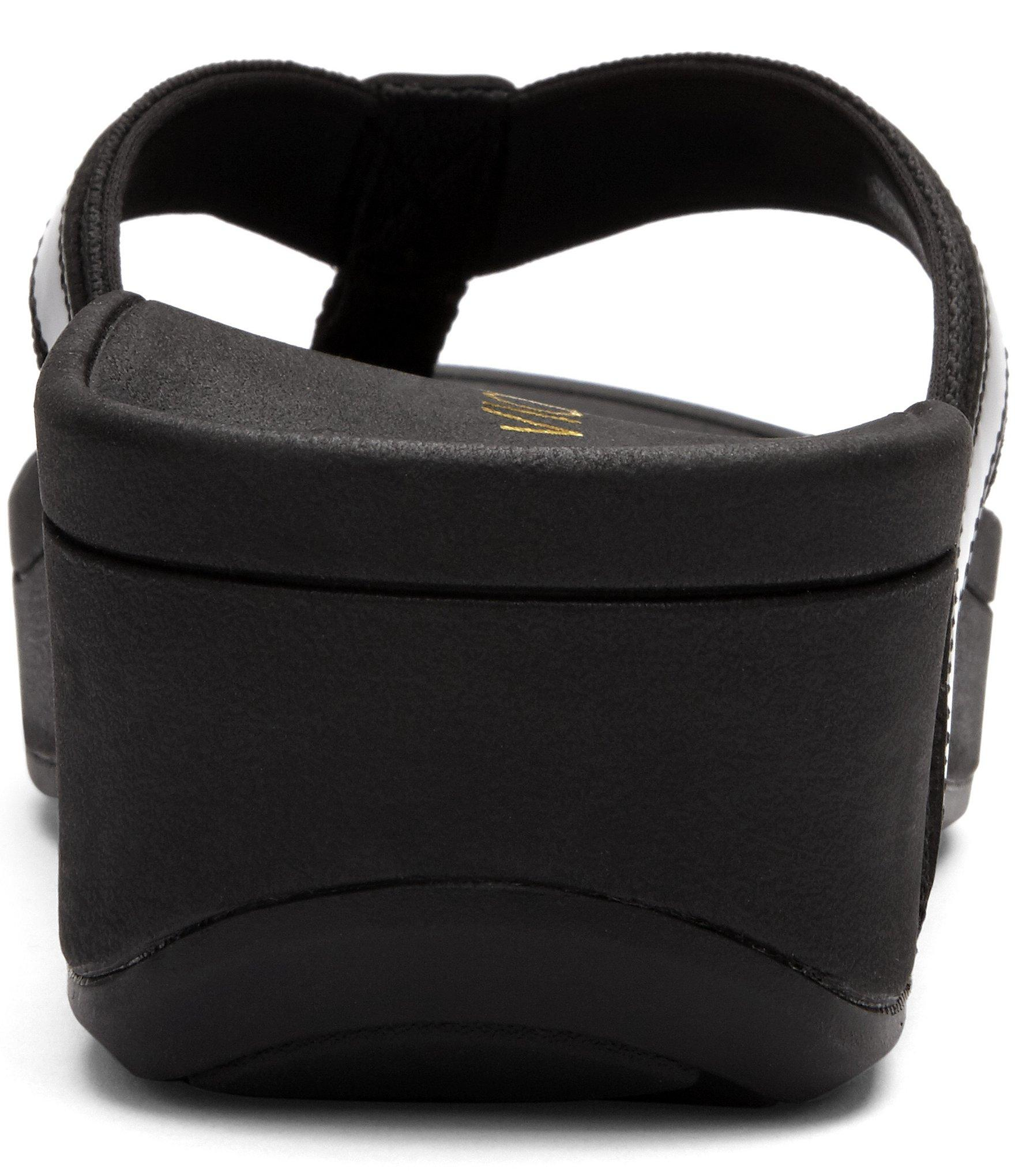 Vionic High Tide Leather  Textile Flip-Flops In Black - Lyst-3755