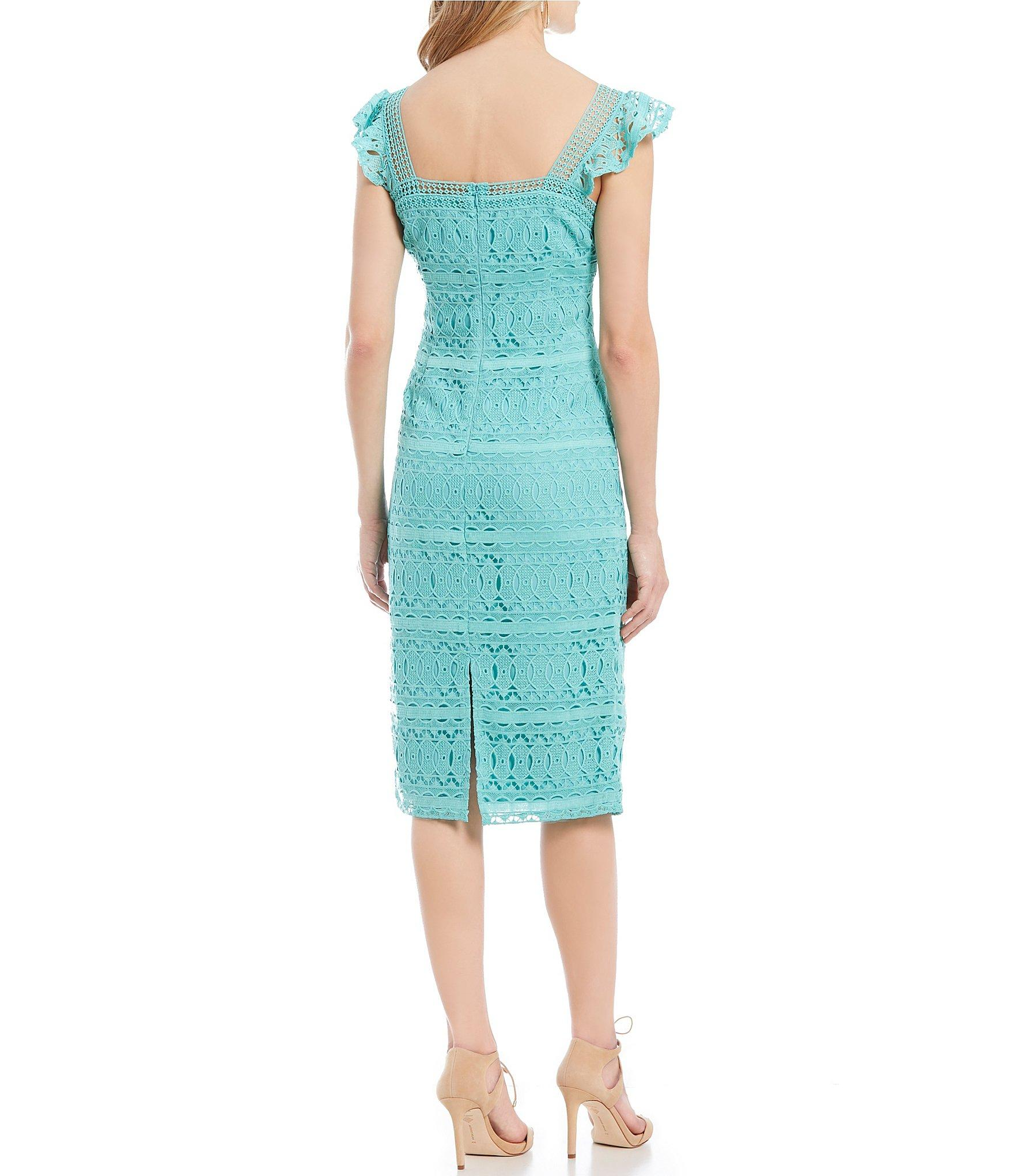 d593ee25f6a Antonio Melani - Blue Cameron Square Neck Flutter Cap Sleeve Midi Dress -  Lyst. View fullscreen