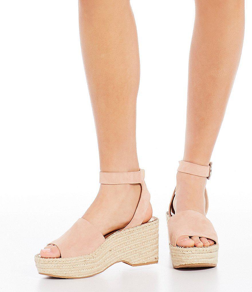 3b86987696 Dolce Vita Lesly Suede Ankle Strap Platform Espadrille Sandals - Lyst