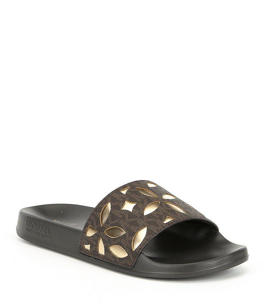 Michael Kors Women's Mimi Slide Sandal 4W3YVFbYo