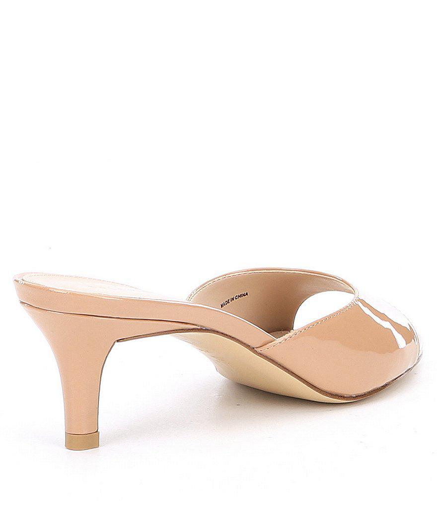 Bex Open Toe Patent Leather Slip-On Dress Sandals Xpv8jHdsd