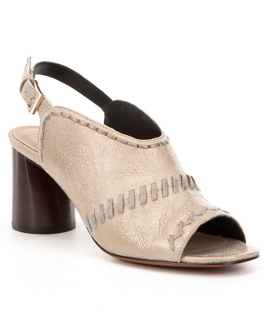 ab2cb8d27eb6 Lyst - Donald J Pliner Hemi Slingback Sandals in Metallic