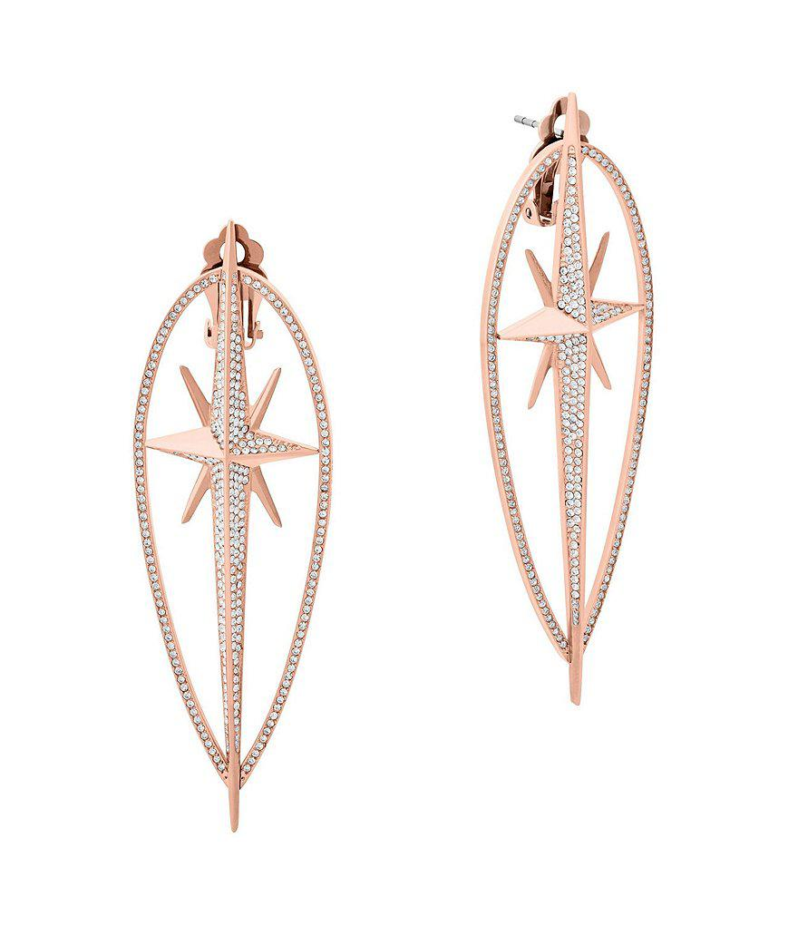 1a47a429f2e8 Michael Kors Pavé Rose Gold Tone Stud Earrings - Best All Earring ...