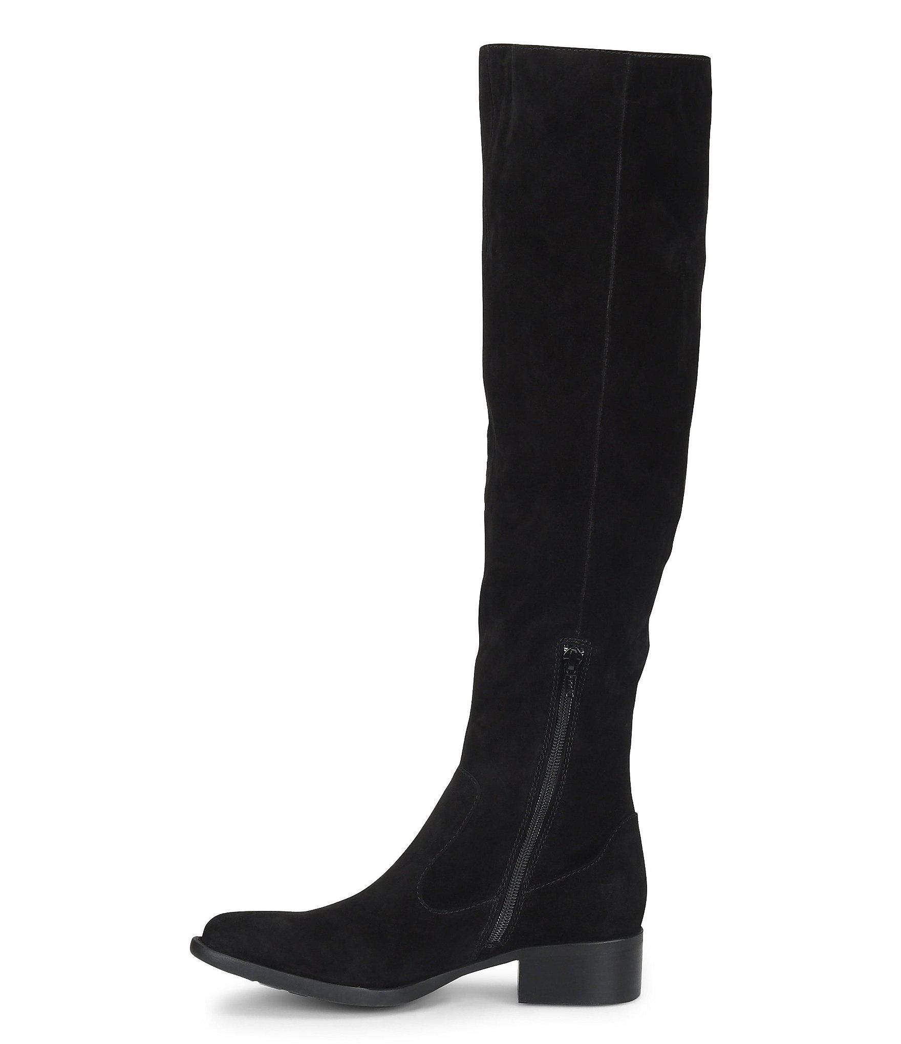 0db9e7262da Born - Black Cricket Tall Suede Block Heel Boots - Lyst. View fullscreen