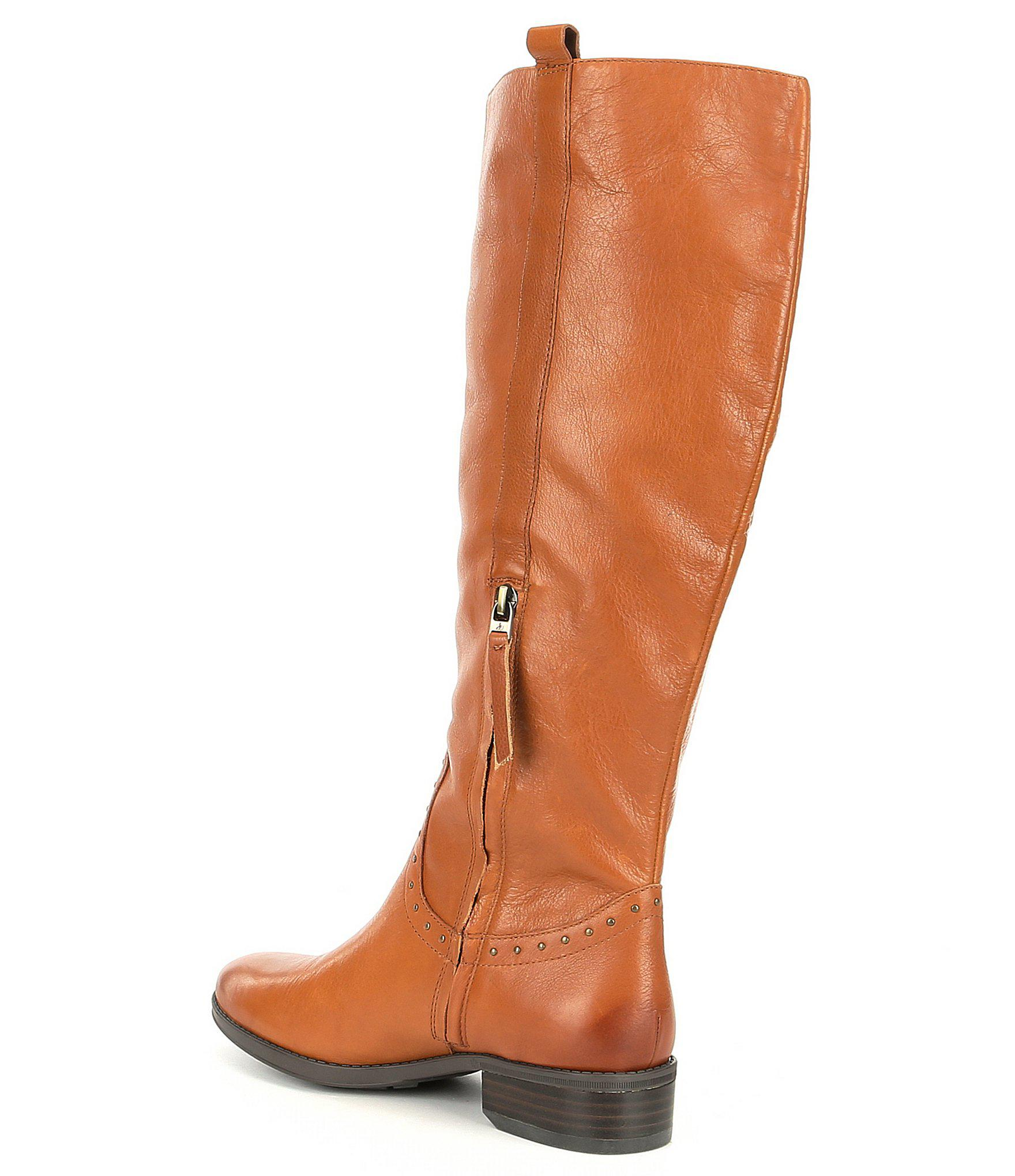 d5c7aeb9a1af0b Lyst - Sam Edelman Prina 2 Tall Shaft Wide Calf Leather Riding Boots ...