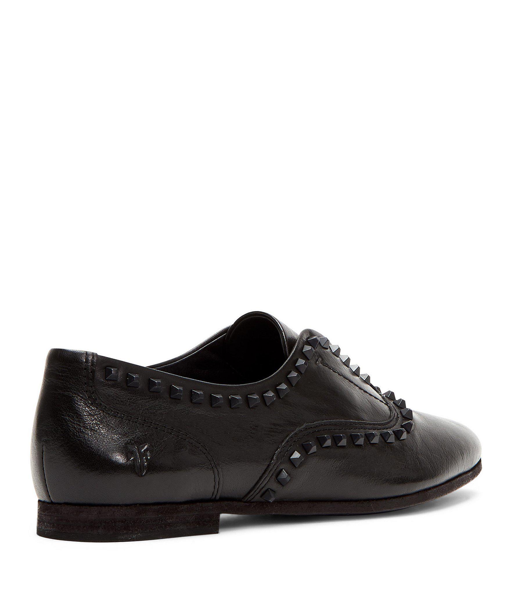dacf883ac46 Frye - Black Terri Deco Stud Slip On Leather Oxfords - Lyst. View fullscreen