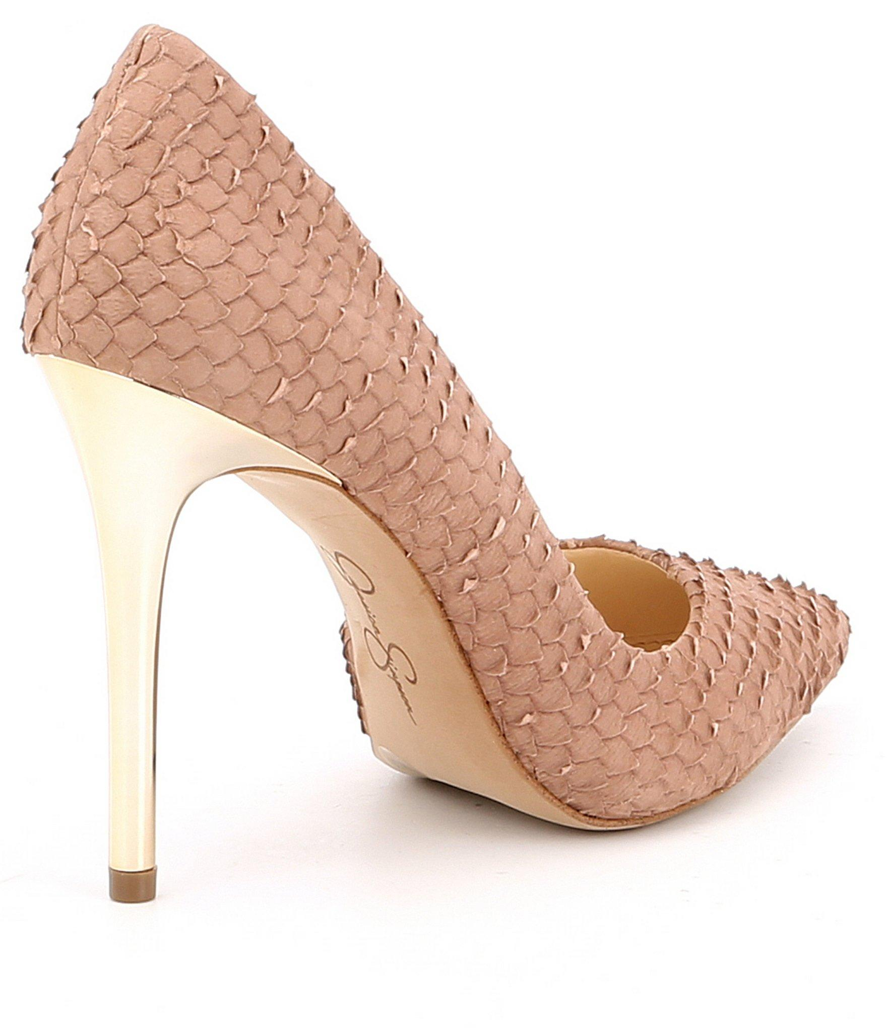 642d5fd7f316 Jessica Simpson - Multicolor Lucina Snake Embossed Iridescent Heel Pumps -  Lyst. View fullscreen