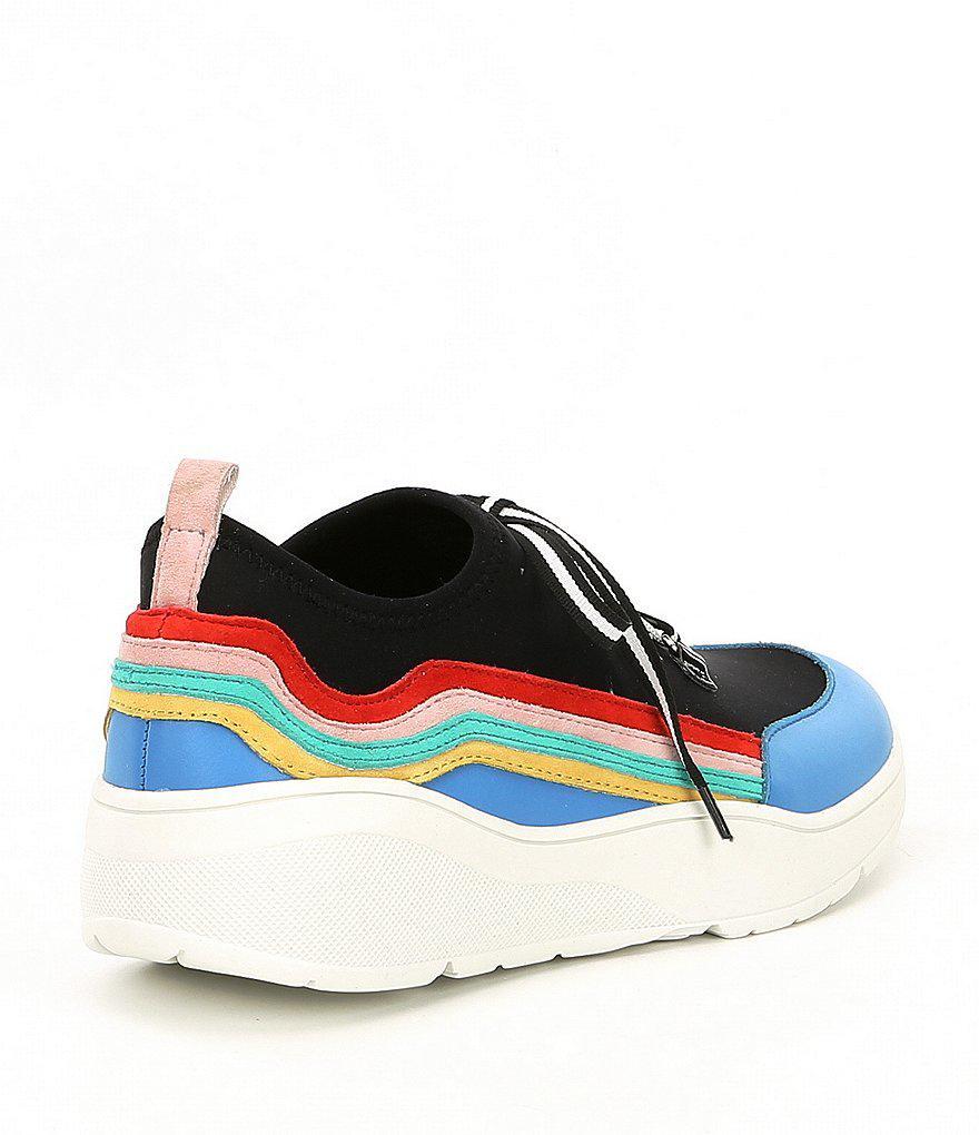 Cavo Striped Wedge Sneakers aYvblxMpj