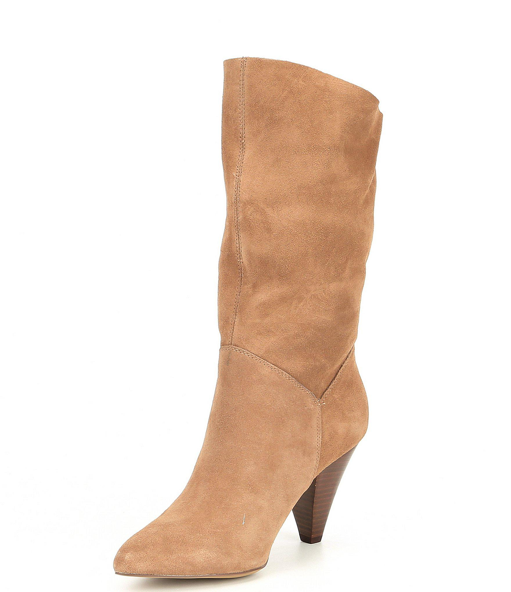 f42ea7fede5 Lyst - Steve Madden Rein Suede Mid-calf Boots in Brown