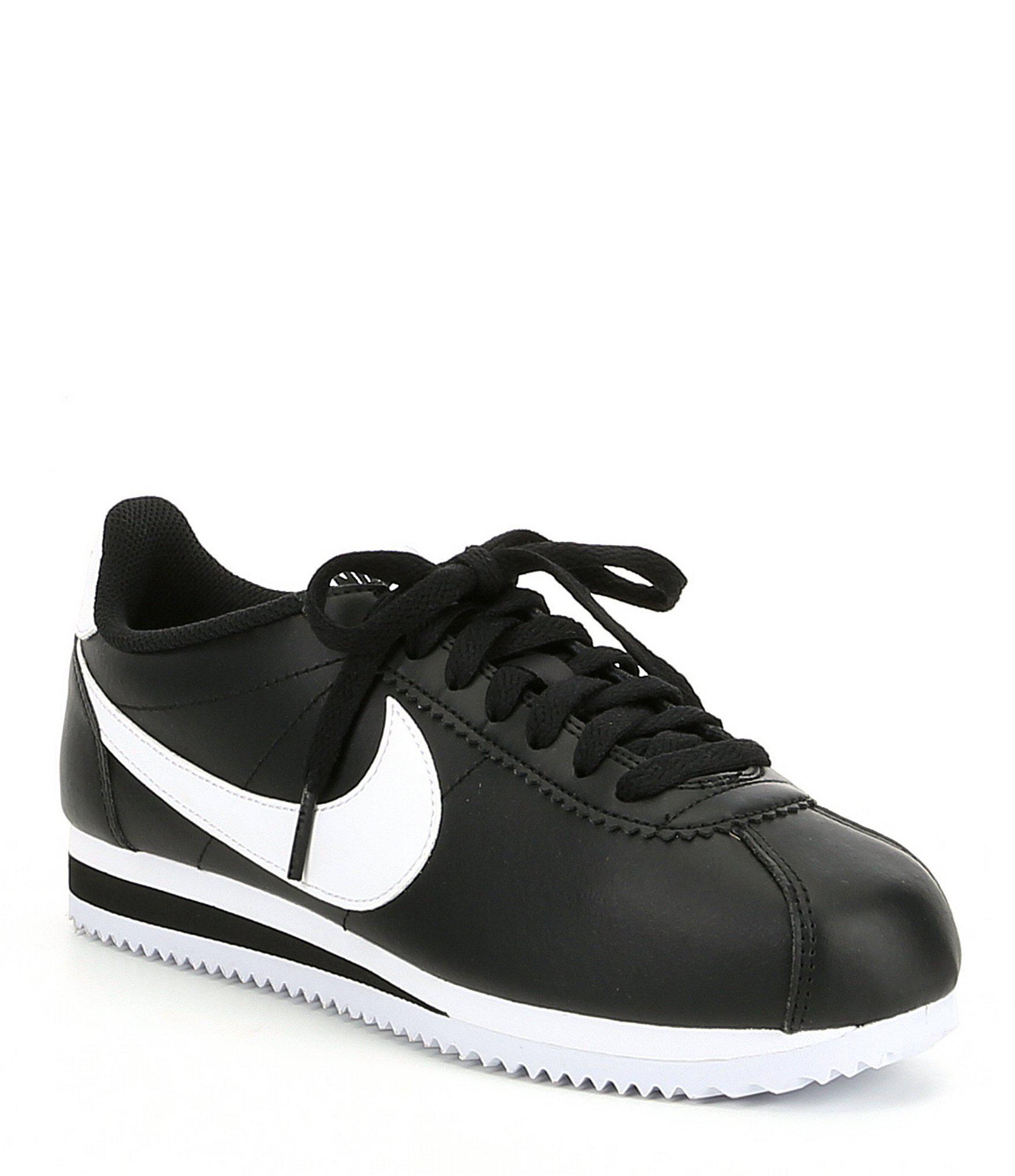 size 40 7e7cf 4eedc Nike. Black Womens Classic Cortez Leather Lifestyle Shoe