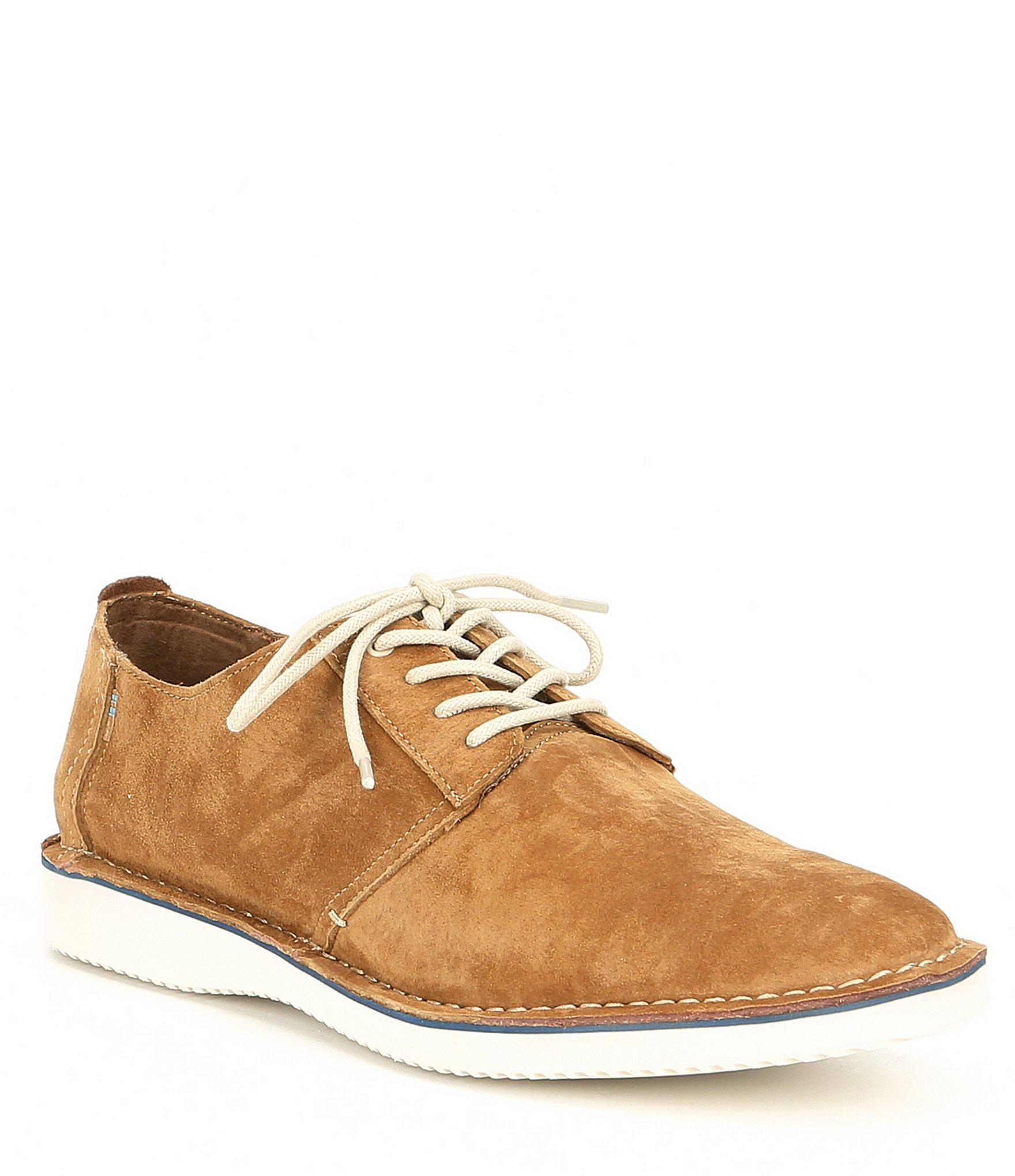 ed77048bfe2 TOMS Men s Preston Suede Oxford in Brown for Men - Lyst