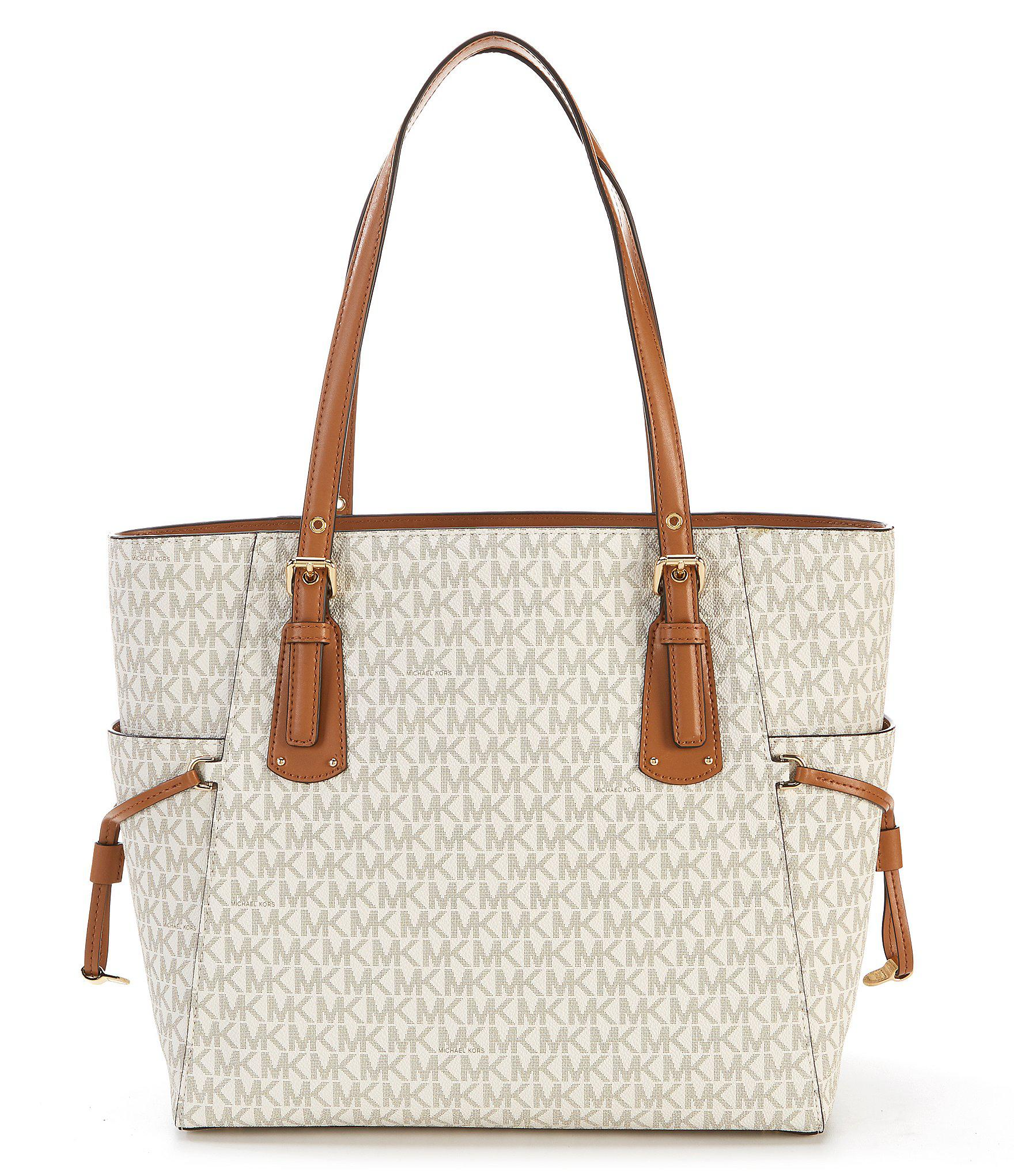 dbd26232684e MICHAEL Michael Kors - Multicolor Voyager East west Signature Tote  (vanilla) Tote Handbags. View fullscreen