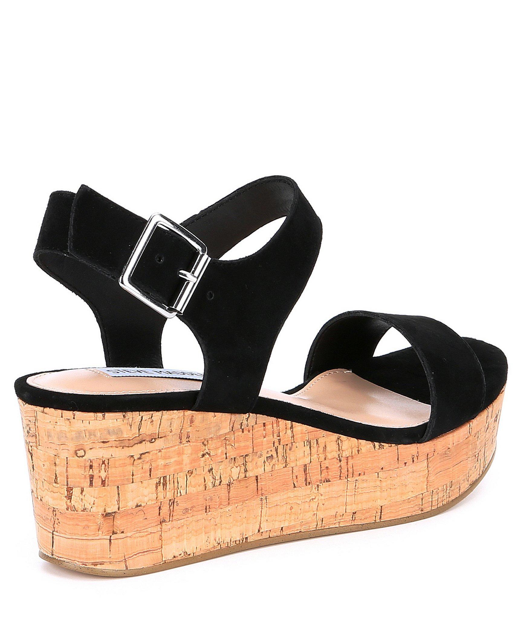 64221b188e4 ... Black Breathe Suede Platform Sandals - Lyst. View fullscreen
