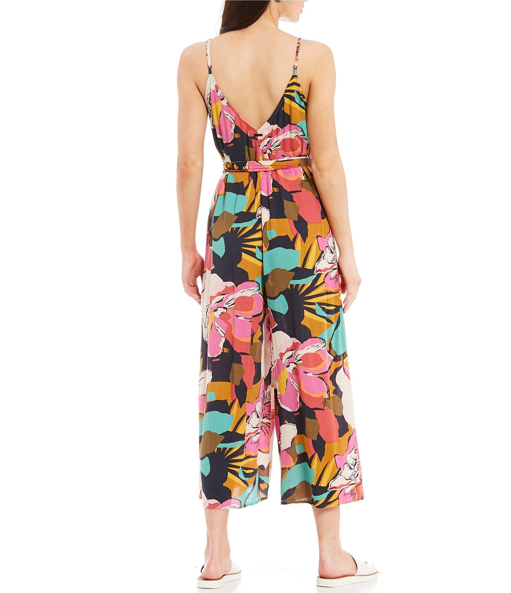 92742b8c2919 Billabong - Multicolor Shake It Again Floral Wide Leg Jumpsuit - Lyst. View  fullscreen