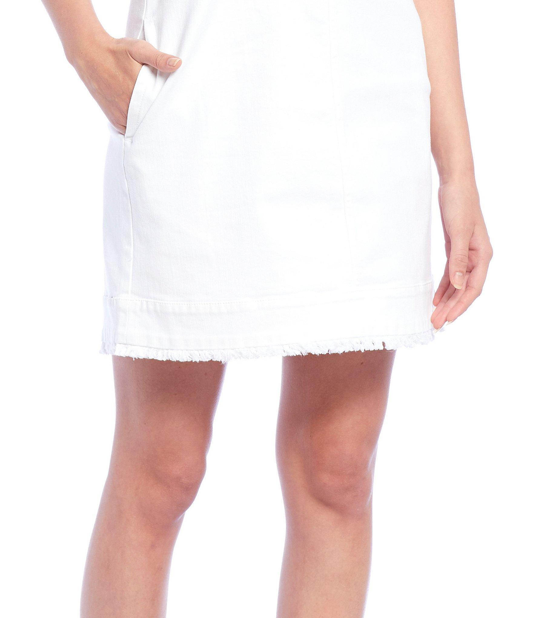 fed9ab887f Cremieux - White Courtney Denim Sleeveless Dress - Lyst. View fullscreen