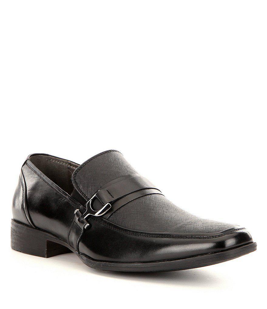 2b14a8938d5 Lyst - Steve Madden Santer Slip-on Leather Dress Loafers in Black ...