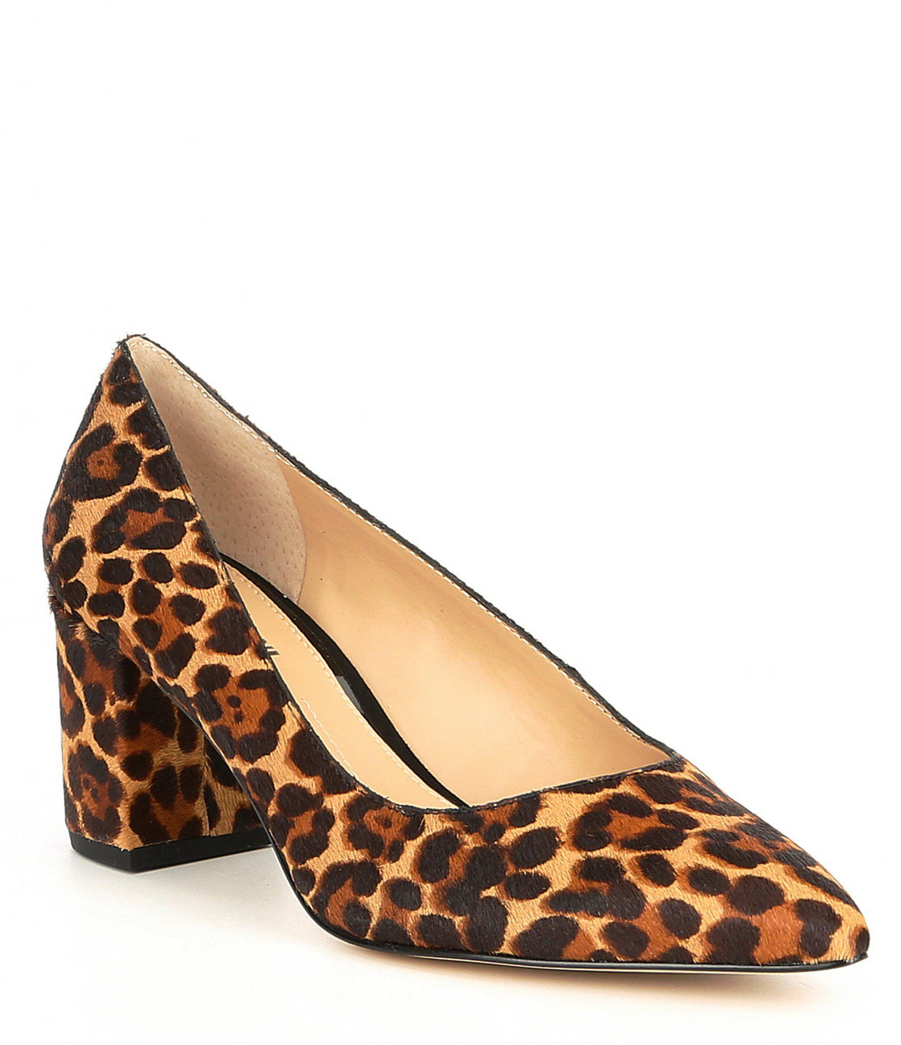 01fe3f005ce Gianni Bini Delancy Leopard Print Block Heel Pumps in Brown - Lyst