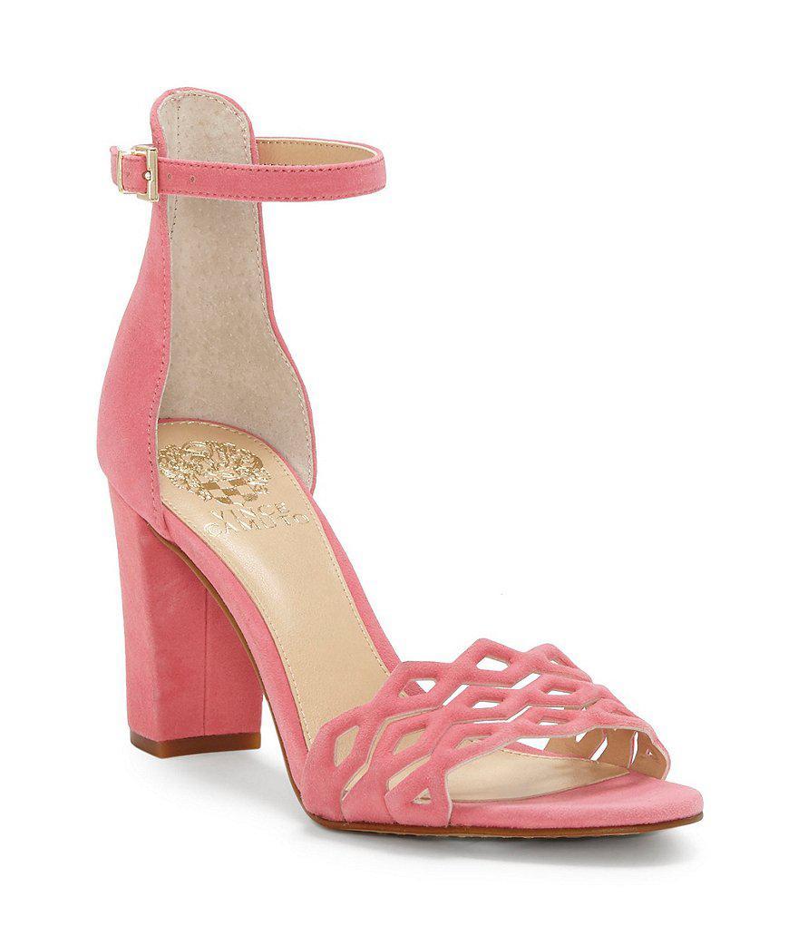 Vince Camuto Caveena Leather Block Heel Dress Sandals 4LTuRpMFvh