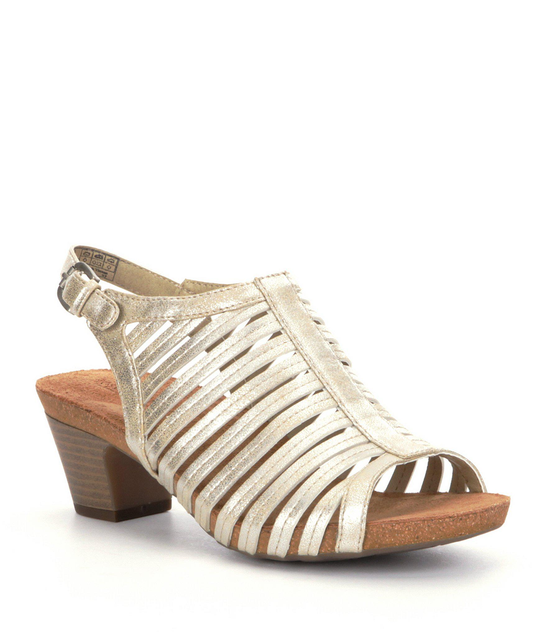 ca642a92bcb2 Lyst - Josef Seibel Ruth 21 Block Heel Sandals