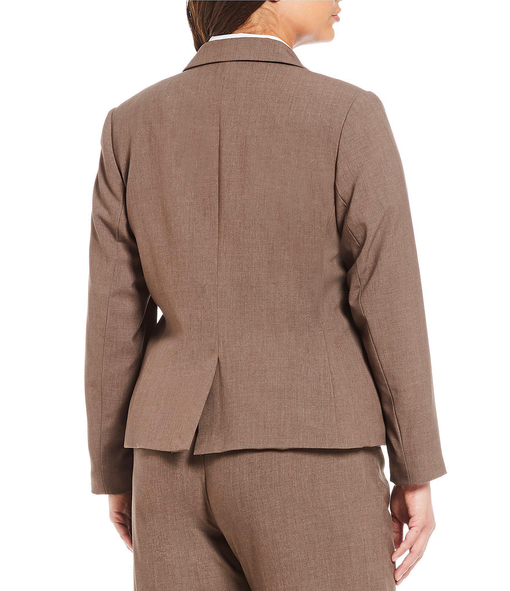 60e6aa90059cc Calvin Klein - Brown Plus 2 Button Luxe Notch Collar Jacket - Lyst. View  fullscreen