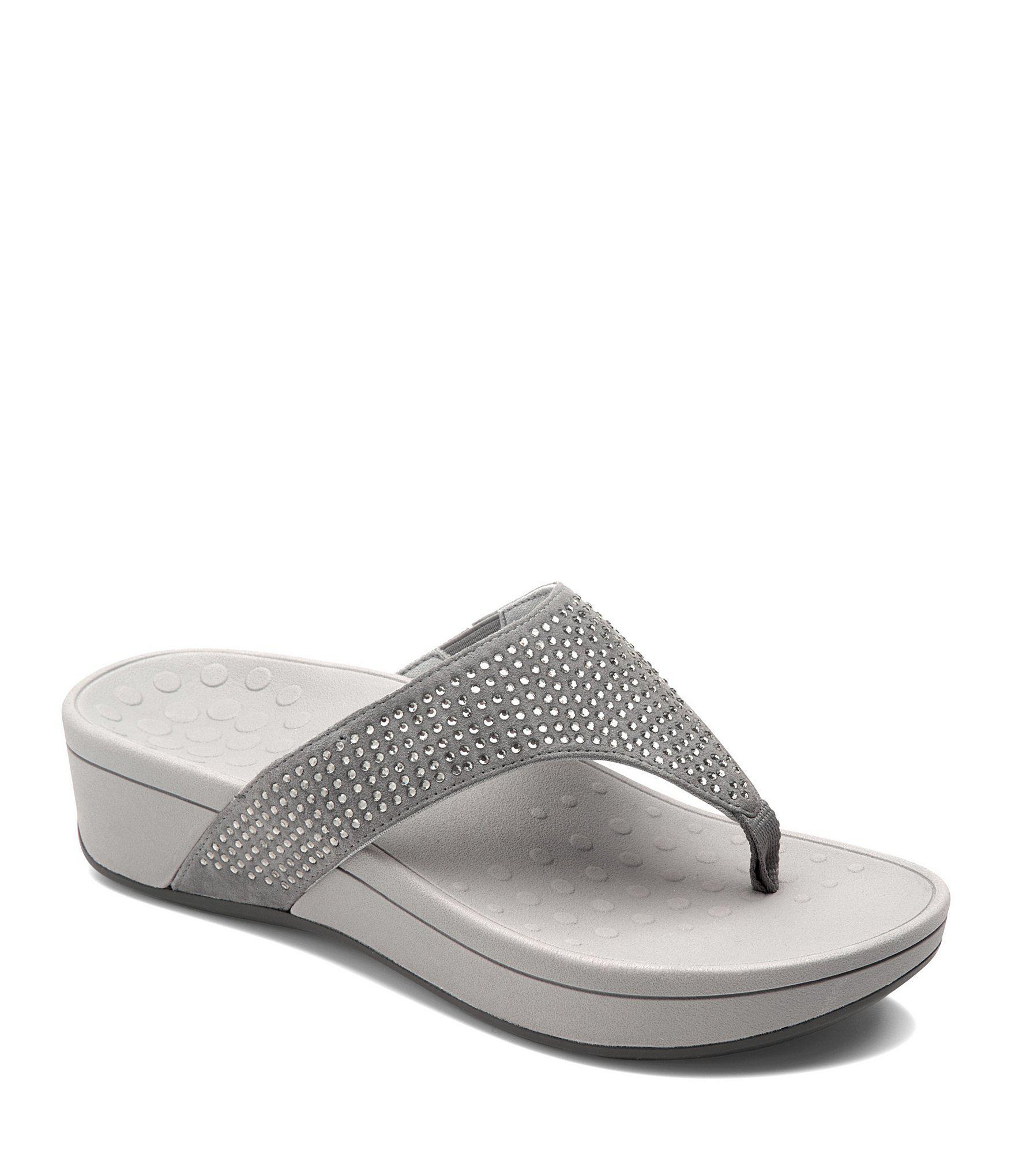 6410b04f8bb Vionic. Women s Naples Rhinestone Sparkle Wedge Thong Sandals