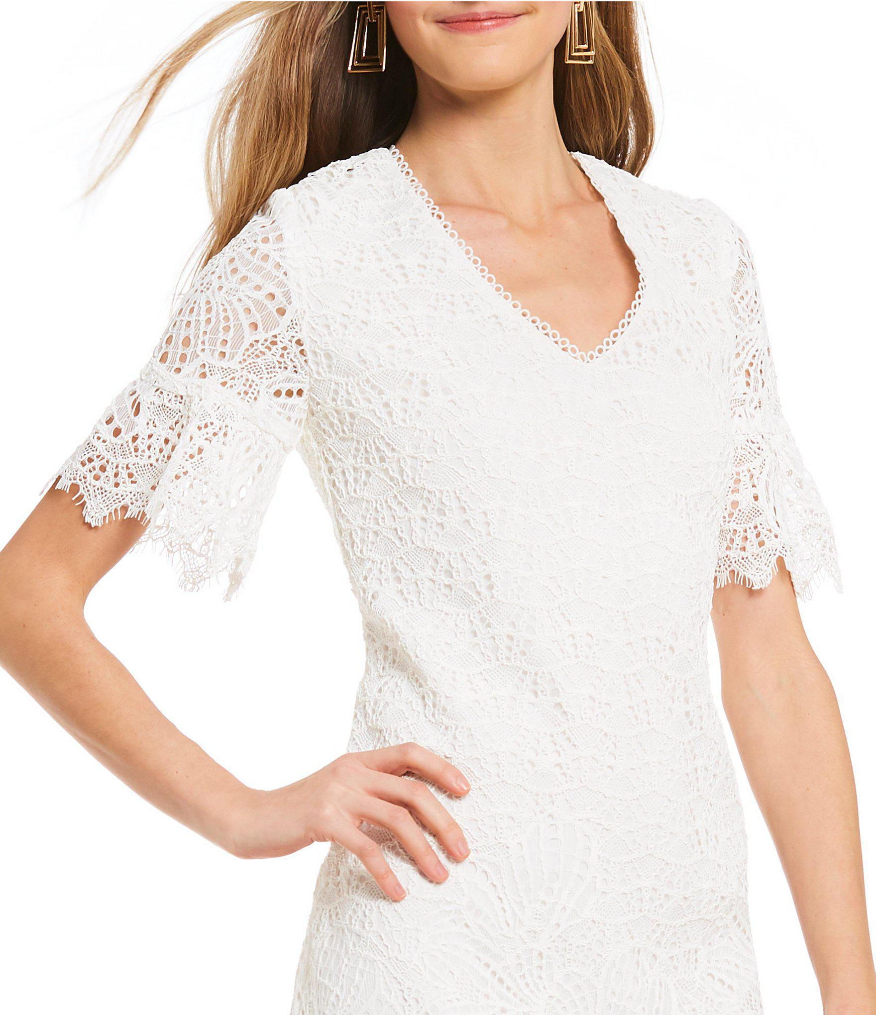 48346d0204b Lyst - Trina Turk Darling Floral Lace Dress in White