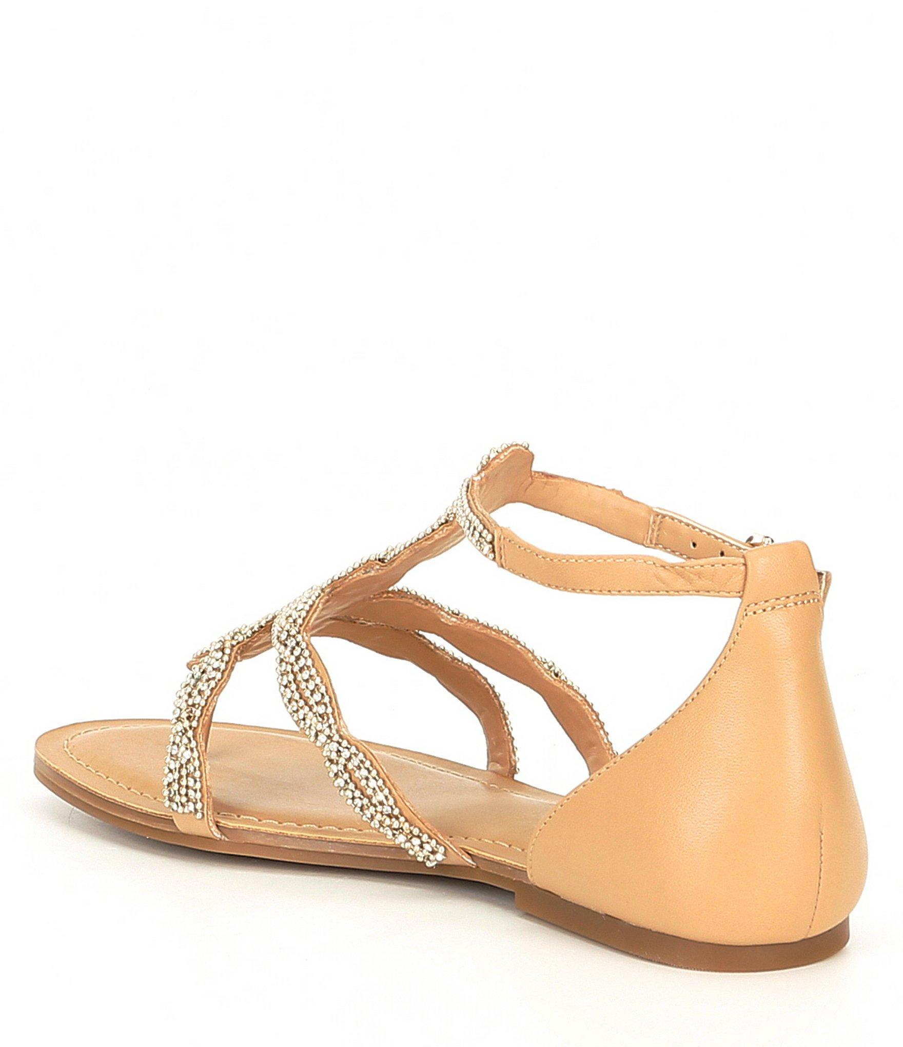 3866360ad4c7 Lyst - Gianni Bini Xandraa Chain Jewel Flat Sandals