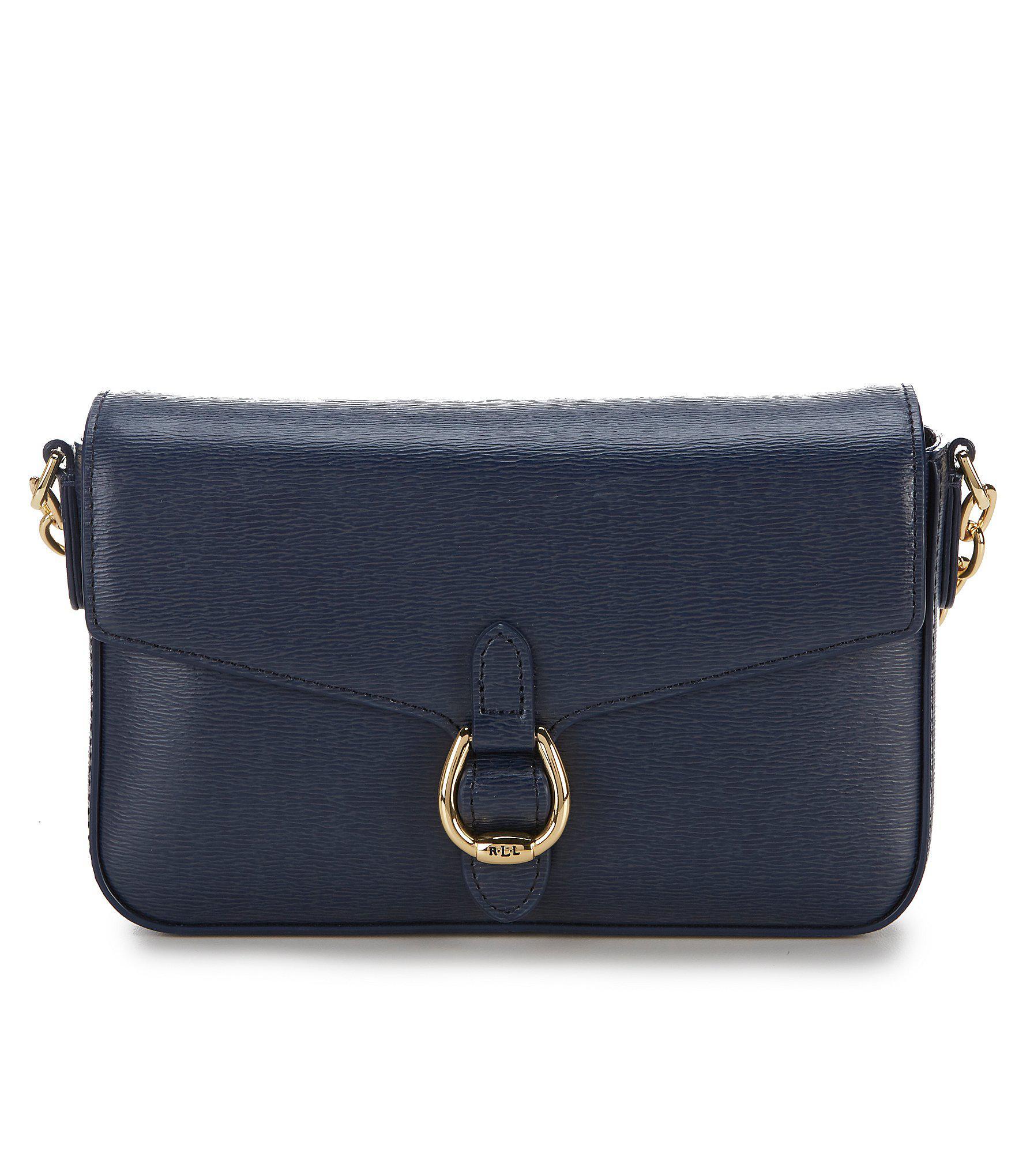 Lyst - Lauren By Ralph Lauren Bennington Saffiano Cross-body Bag in Blue 37a3341fa0