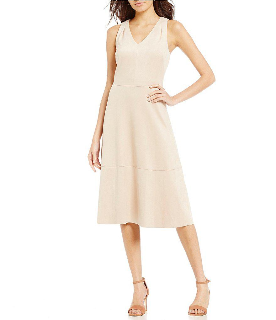 7636f338192 Antonio Melani Quint Faux Suede Dress in Natural - Lyst