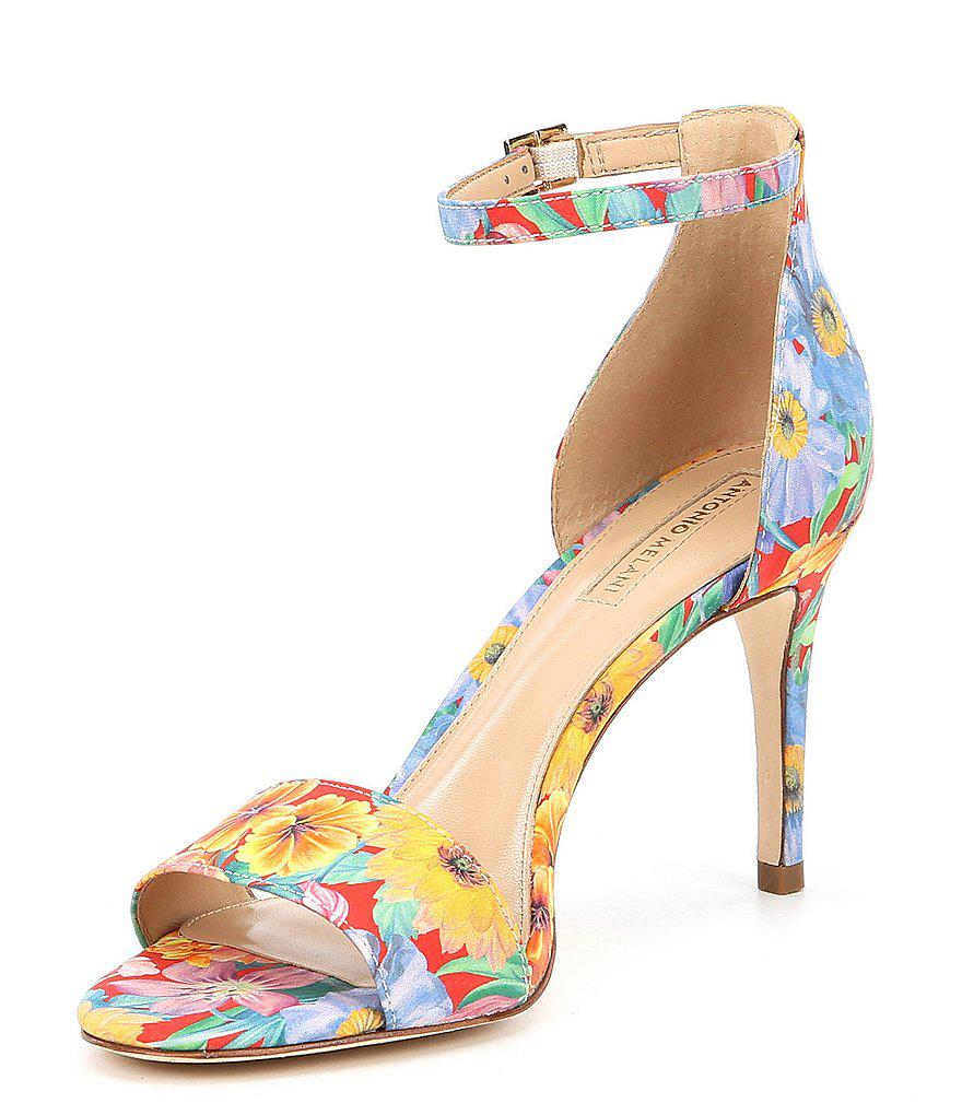 Antonio Melani Pierrson Floral Printed Dress Sandals Made with Liberty Fabrics QFO1M