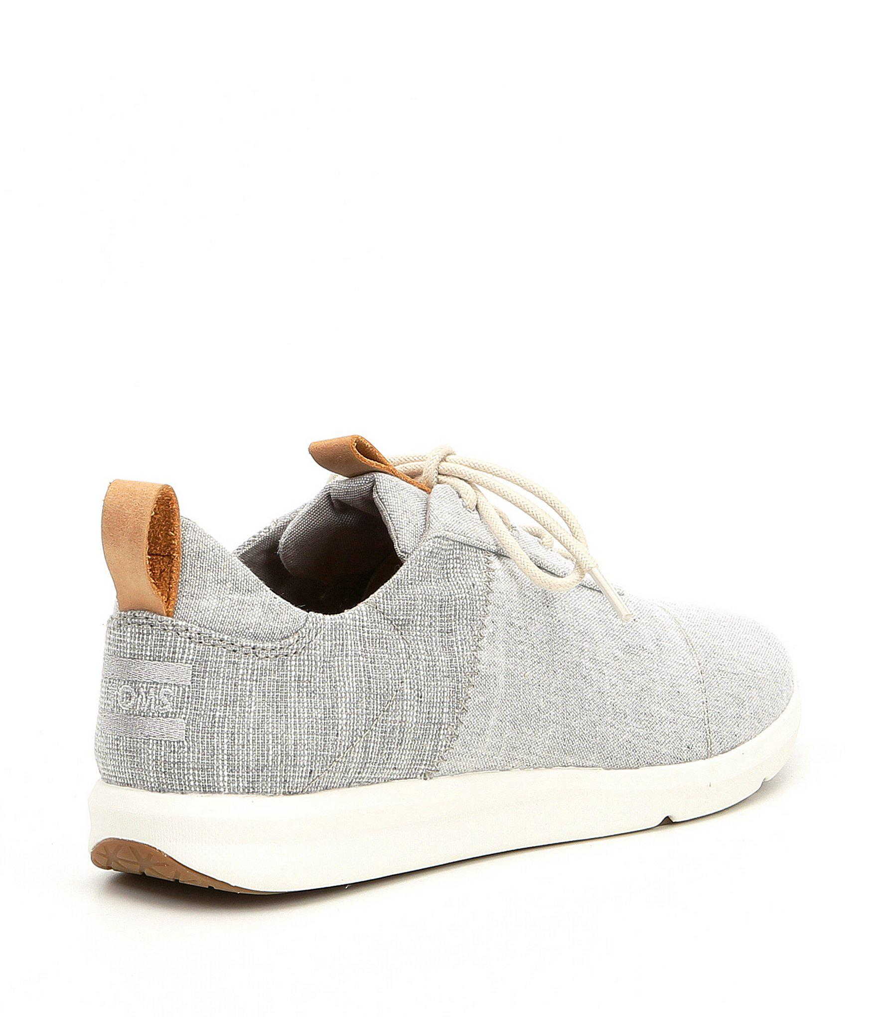 a3a29bf0009 TOMS - Gray Women s Cabrillo Chambray Sneakers - Lyst. View fullscreen