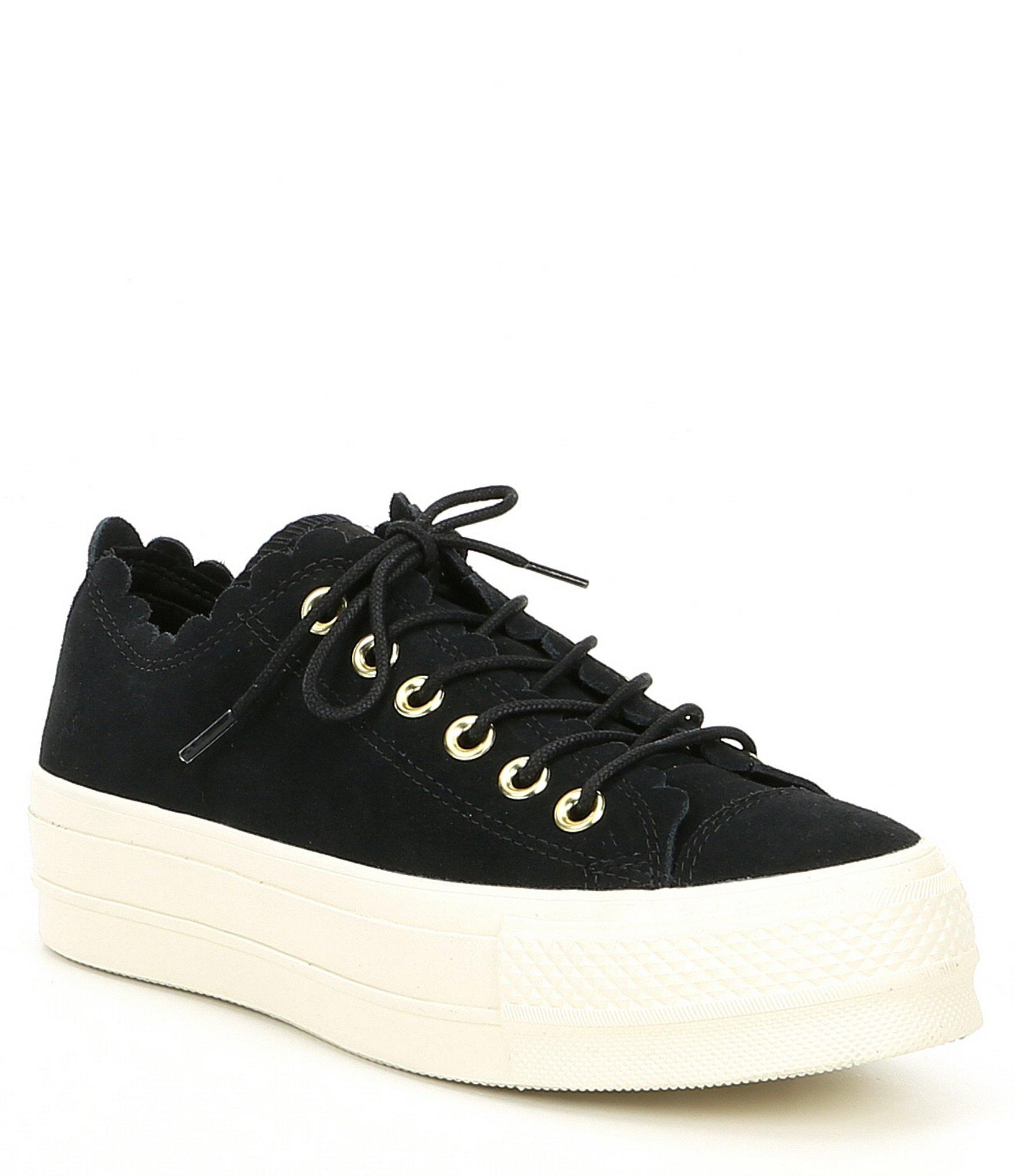 e8102ec99dd Converse. Black Women s Chuck Taylor All Star Frilly Thrills Platform  Sneakers