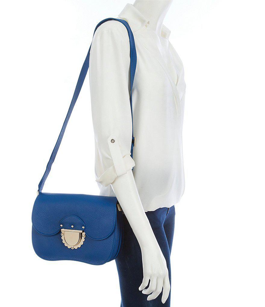 Ducale Small Crossbody Bag in Blue Calfskin Furla T5JNIZ