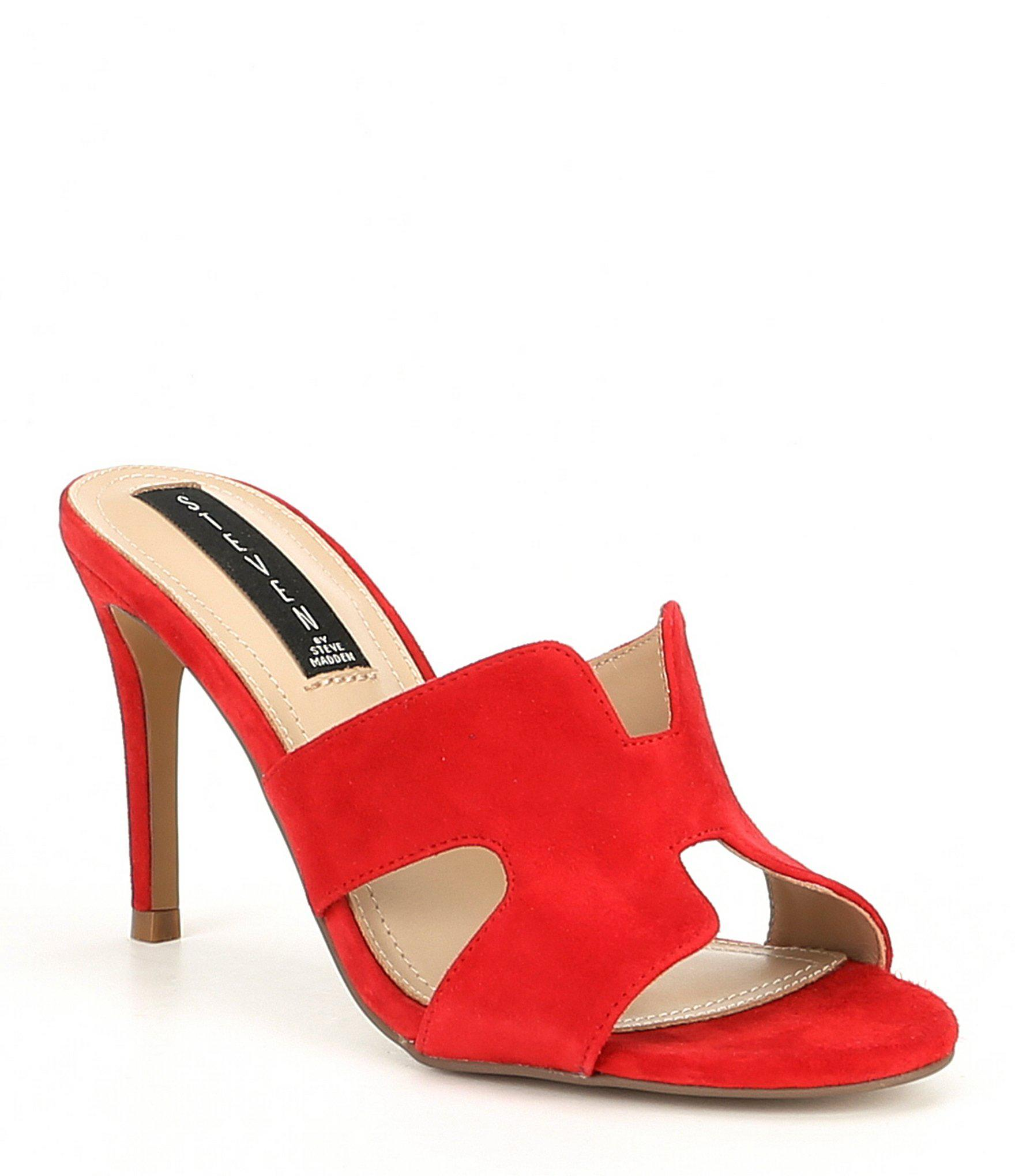 b02e785403 Lyst - Steve Madden Steven By Nylah Suede Stiletto Pumps in Red