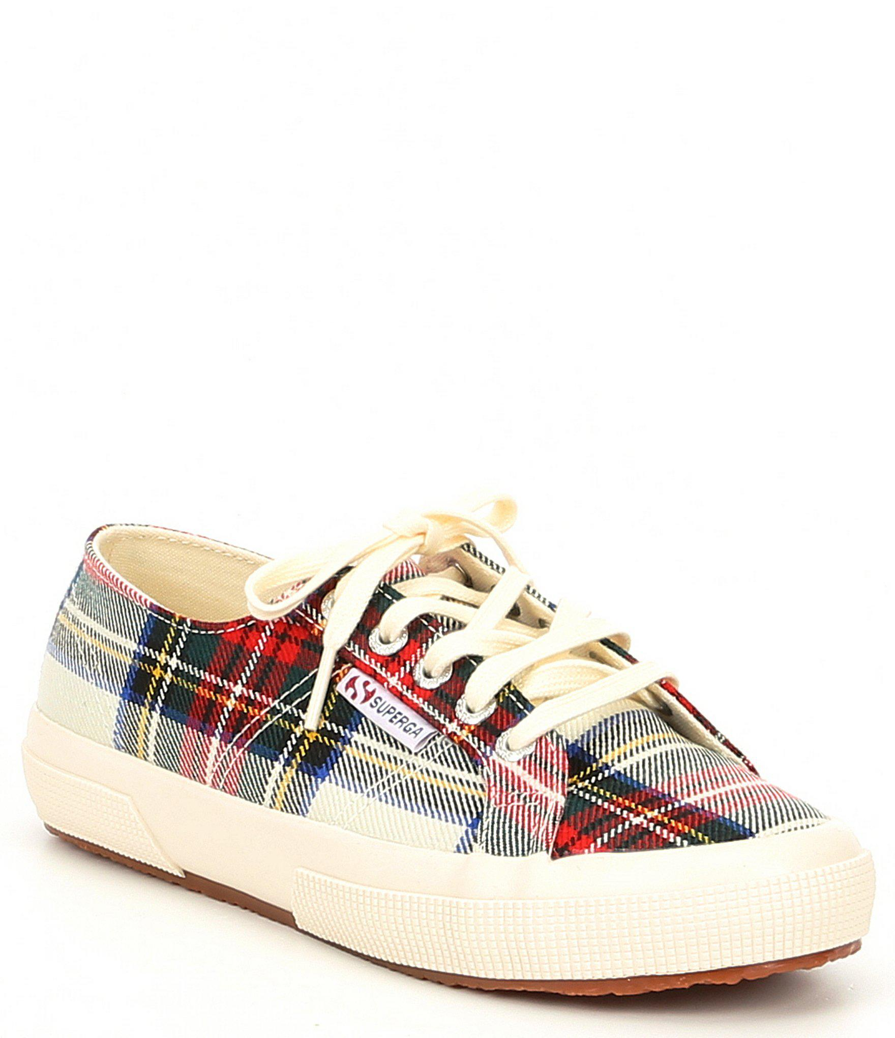 f70fdad0aa79 Superga 2750 Tartan Checkered Sneakers in Red - Lyst