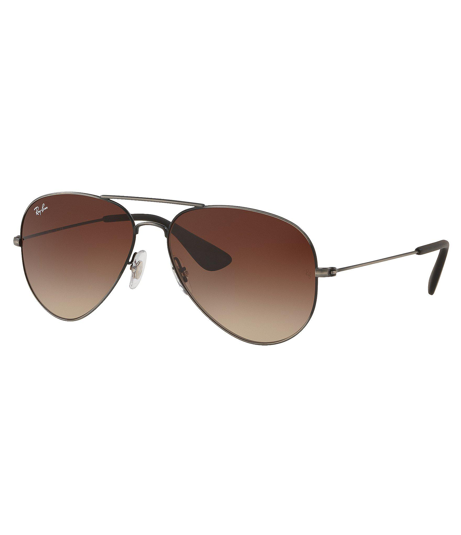 de2a65d014a Lyst - Ray-Ban Aviator Gradient Lens Sunglasses in Brown for Men