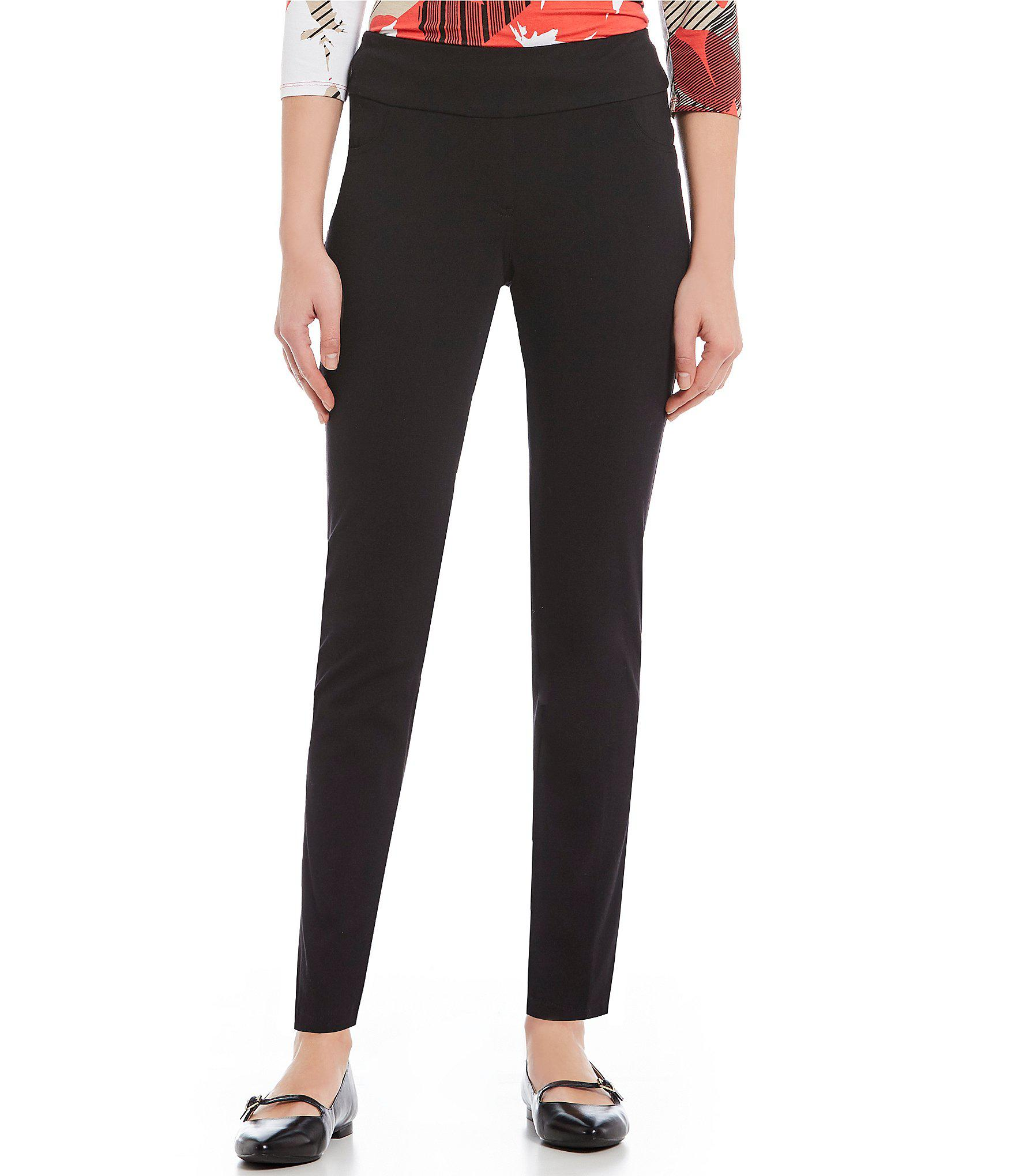 3c7bed28c8 Lyst - Ruby Rd Pull-on Knitted Twill Pants in Black