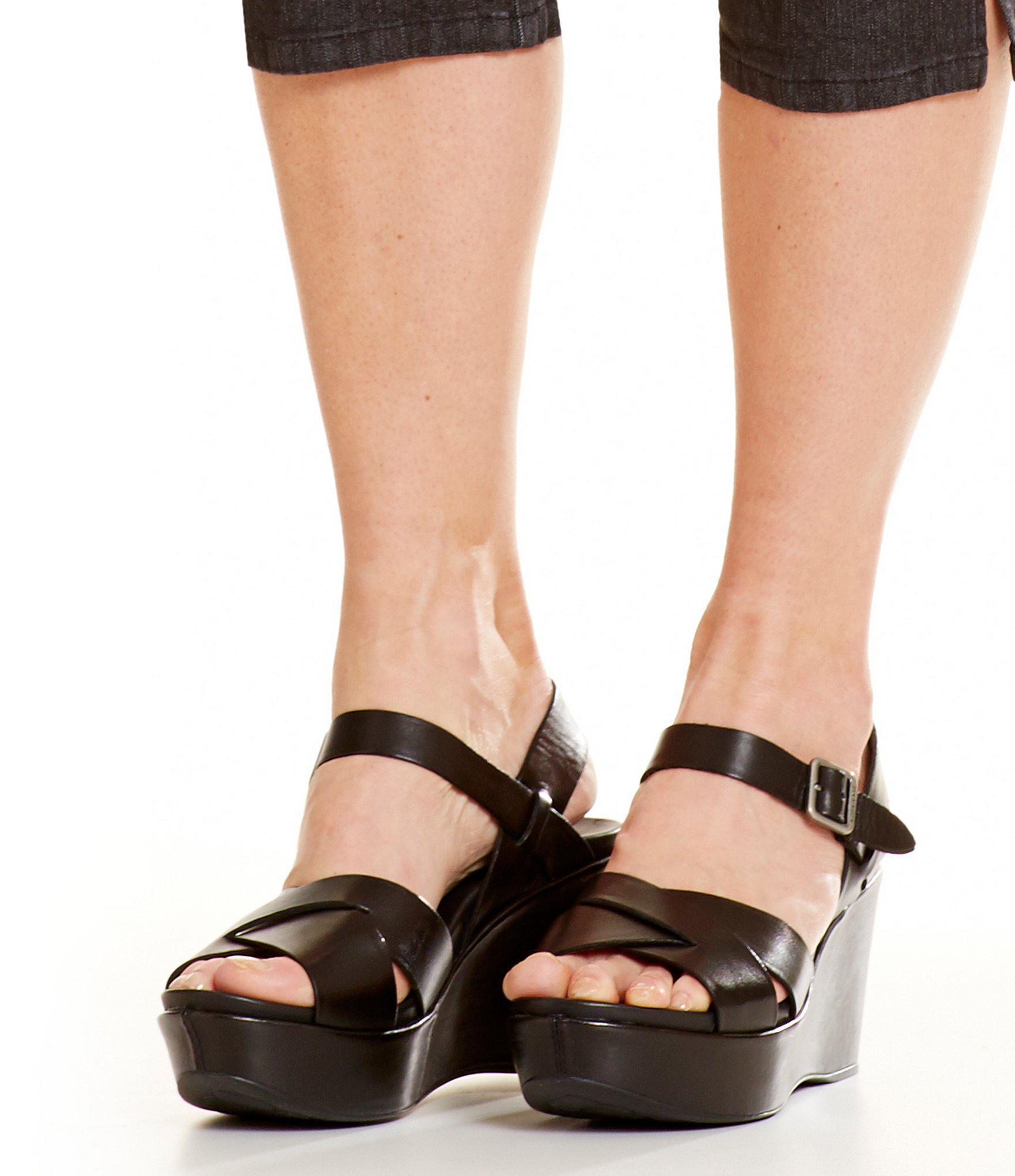 64557683e11 Kork-Ease - Black Ava 2.0 Ankle-strap Wedge Sandals - Lyst. View fullscreen