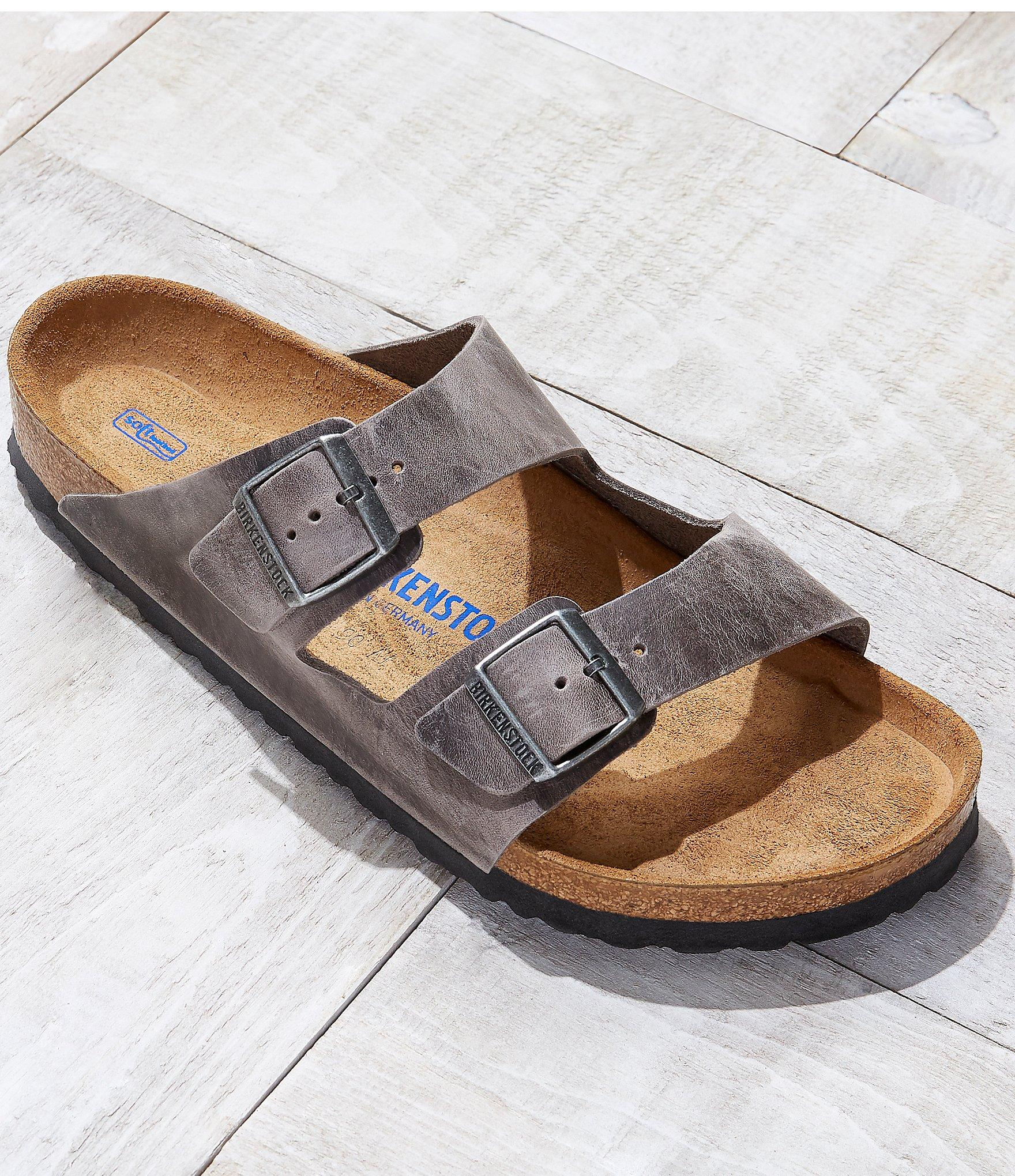 011be365bd9f Lyst - Birkenstock Arizona Men ́s Oiled Suede Soft Footbed Slip On ...