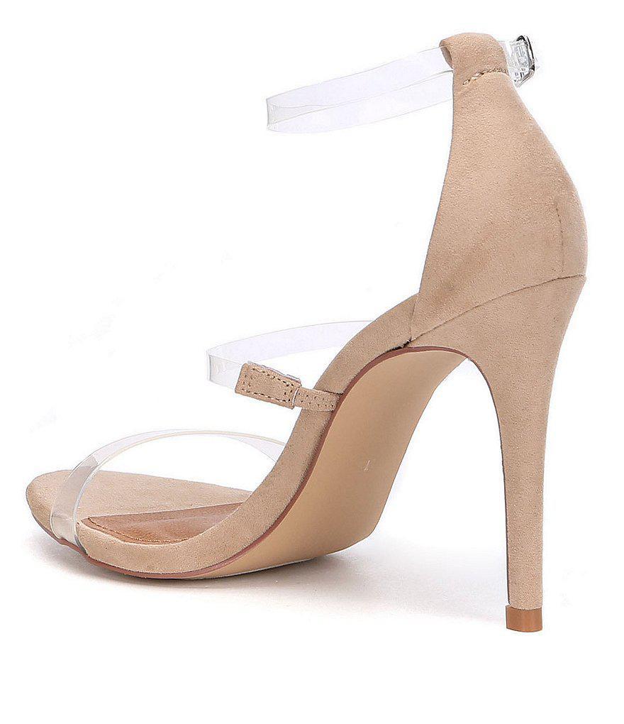 40587e6625d Lyst - Steve Madden Samantha Lucite Dress Sandals