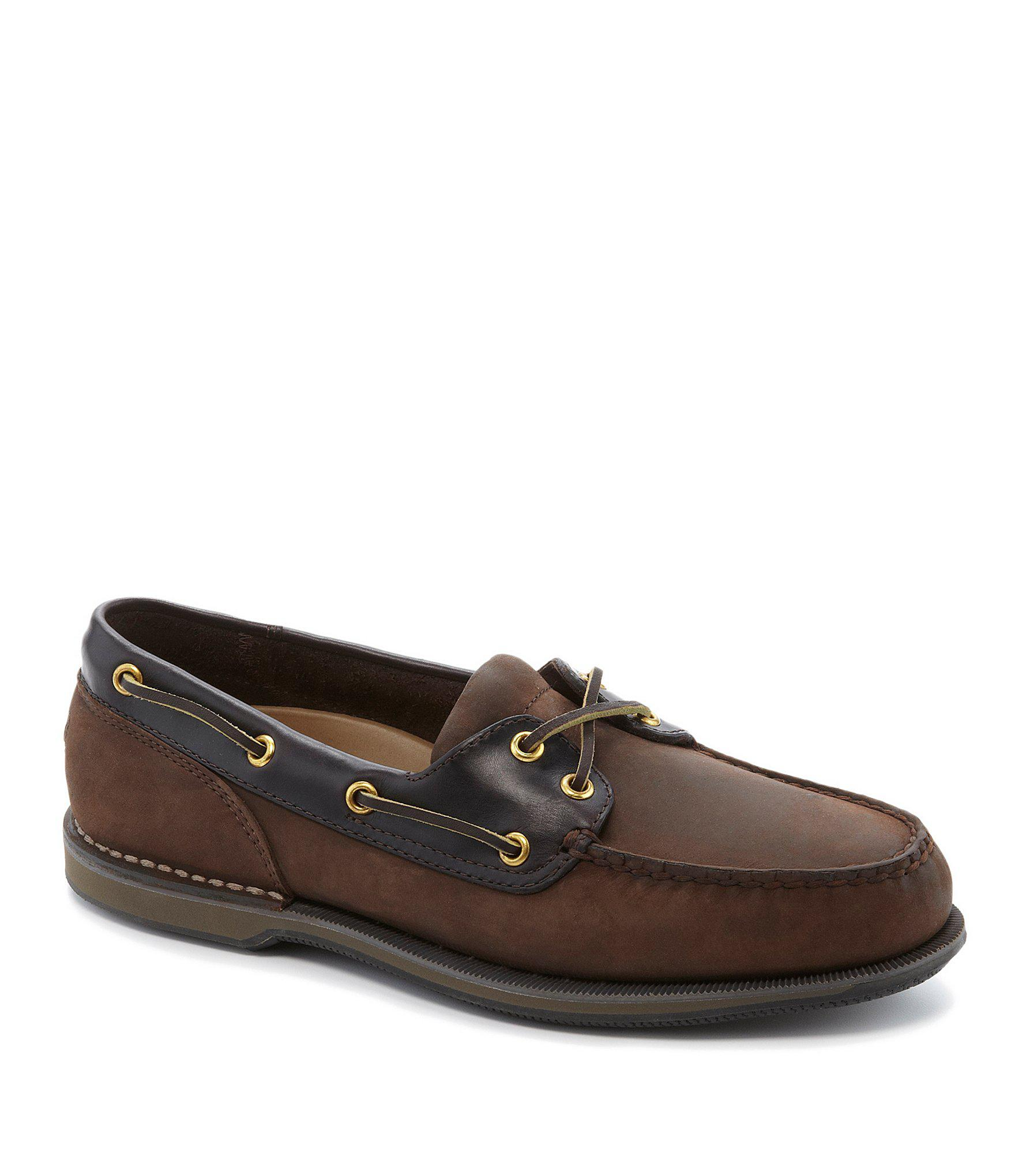 578c7ec1fa Lyst - Rockport Perth Casual Boat Shoes in Brown for Men