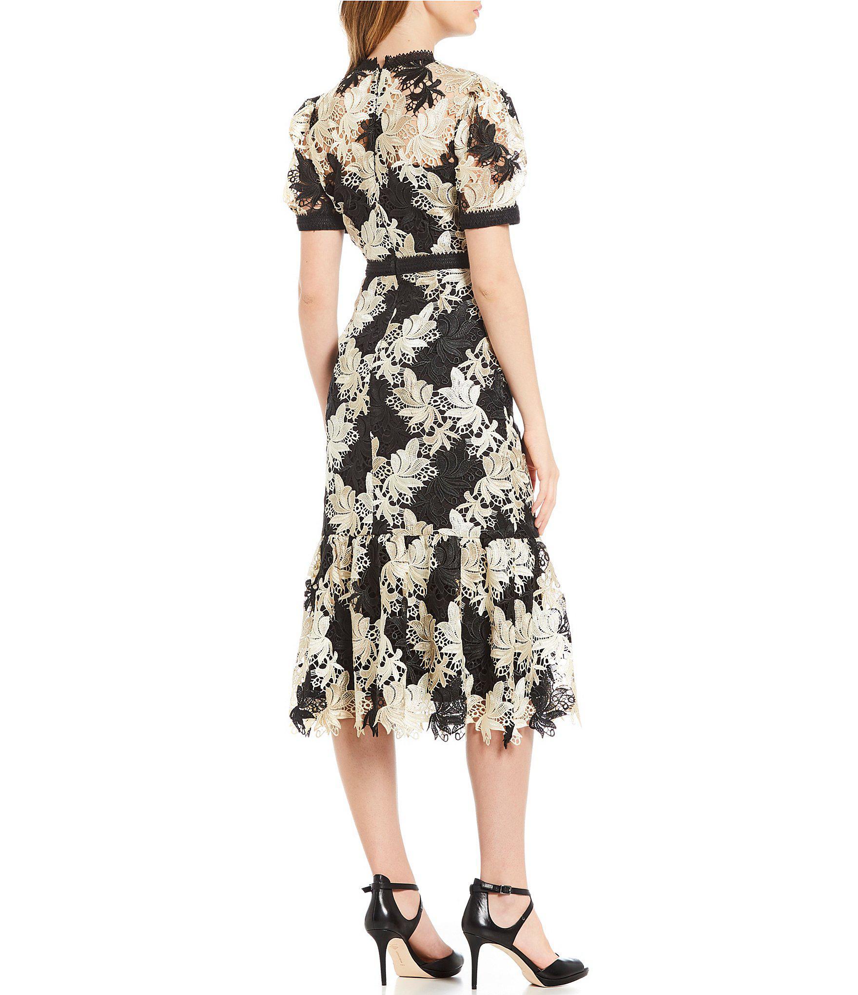 ce31ebbf2b Antonio Melani Tessa Lace Midi Dress in Black - Lyst