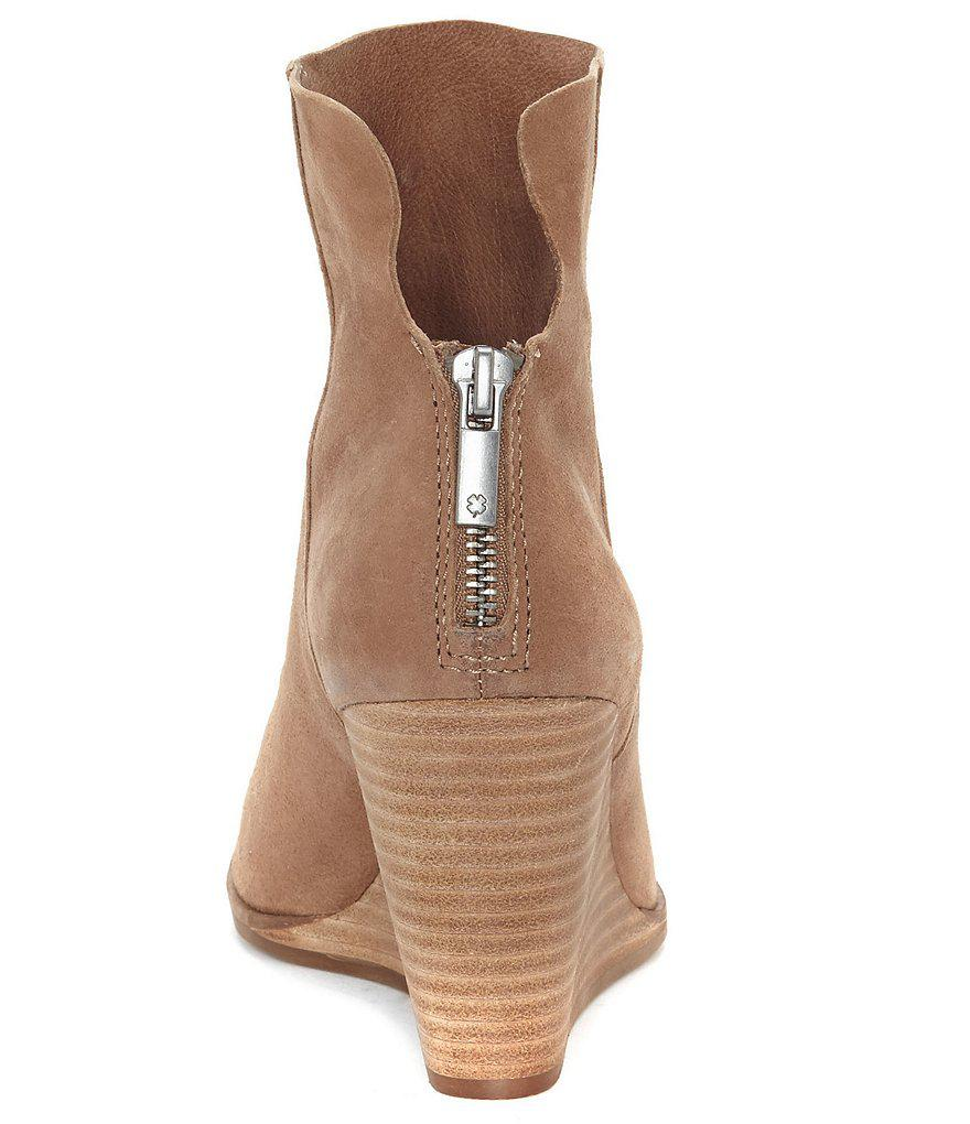 e37e3ff3632 Lyst - Lucky Brand Urbi Wedge Booties in Gray
