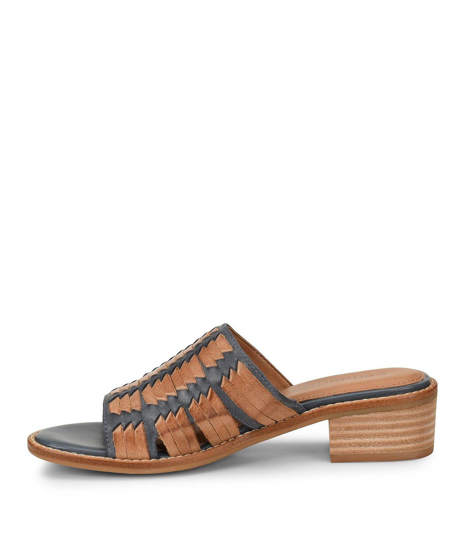a29ca86d58e9 Comfortiva - Multicolor Brileigh Huarache Block Heel Slides - Lyst. View  fullscreen