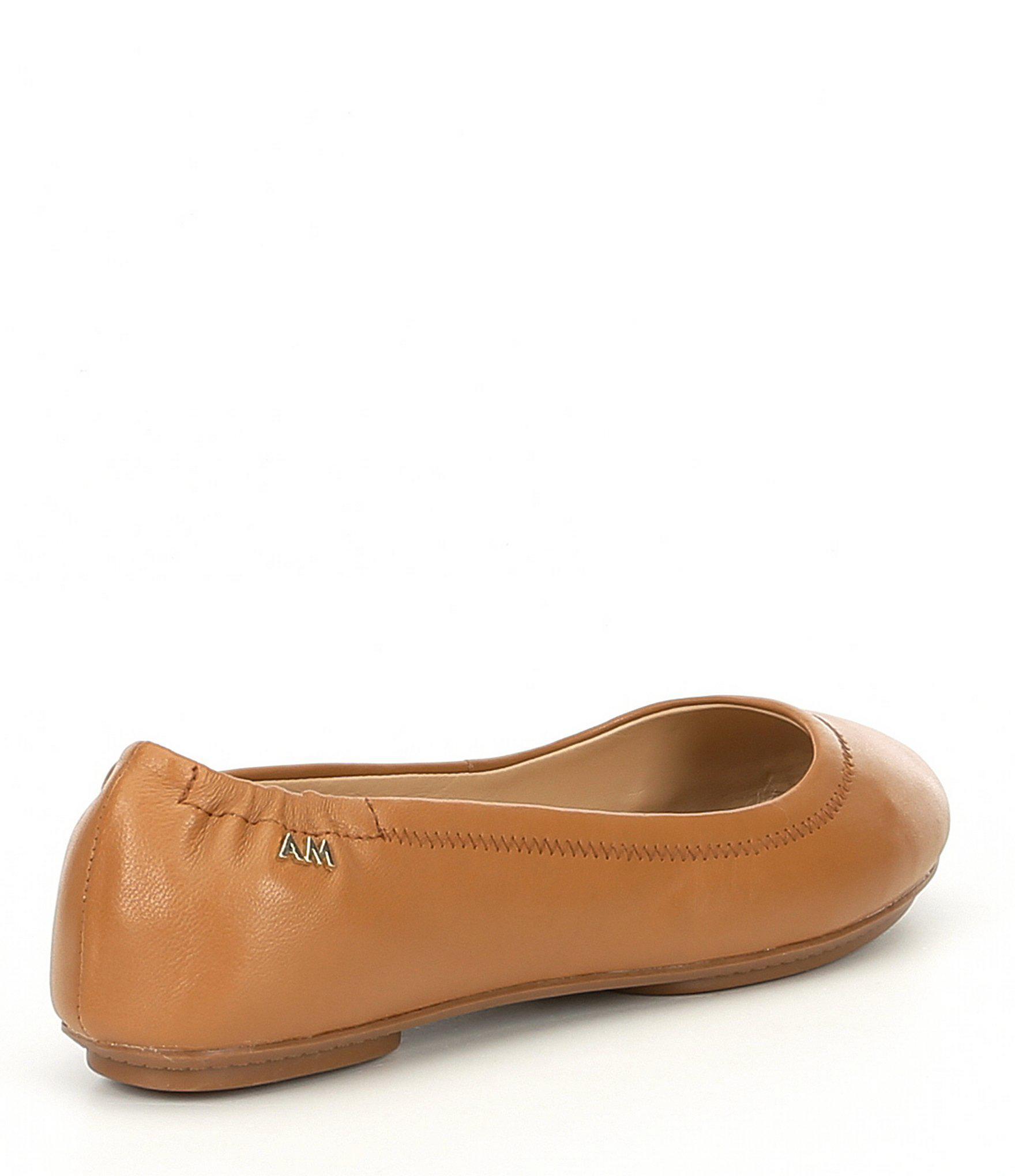 c1fb6304ff0 Lyst - Antonio Melani Frederica Leather Round Toe Flats in Brown
