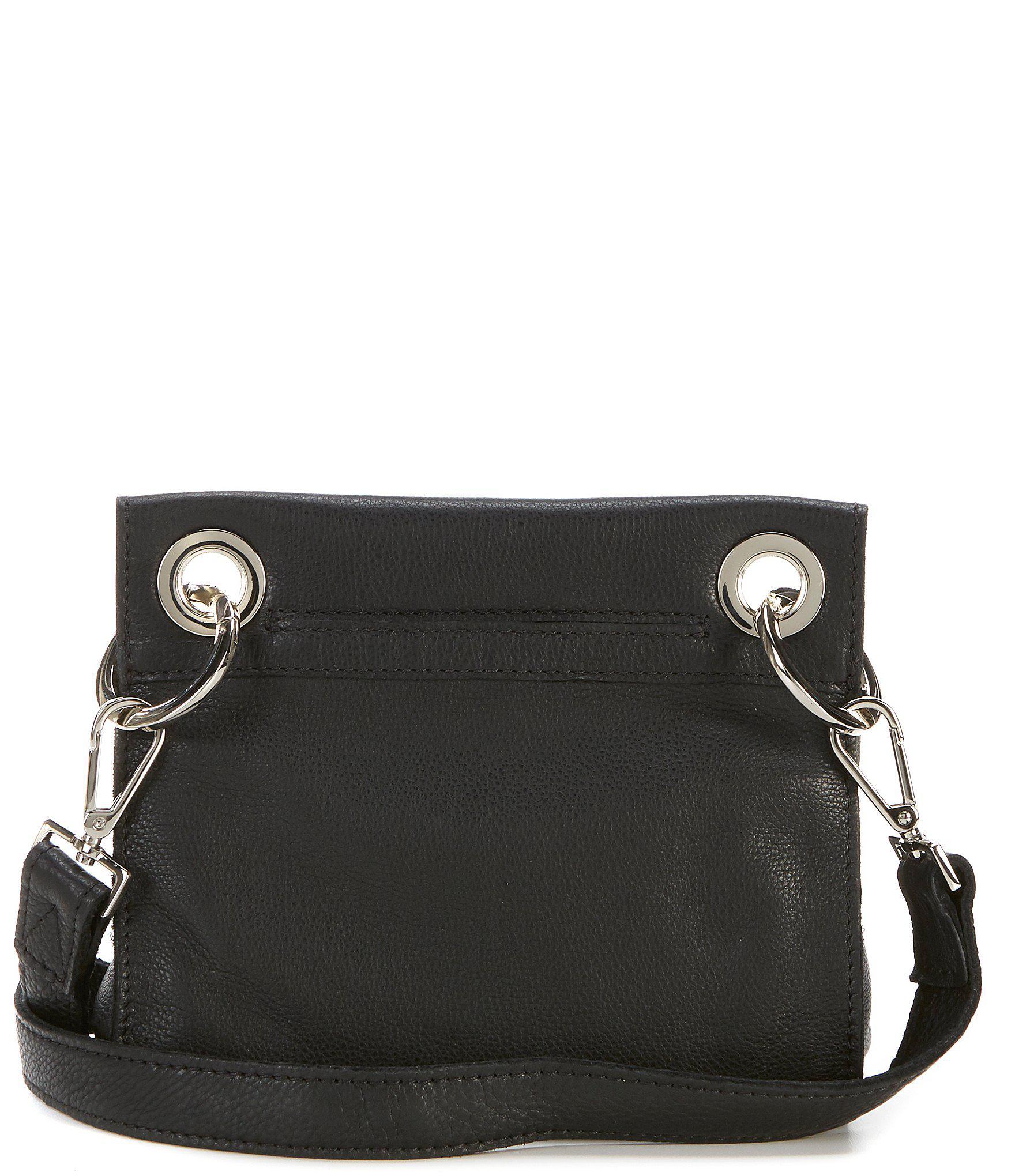 62b37c398872 Lyst - Hammitt Tony Grommet Studded Cross-body Bag in Black